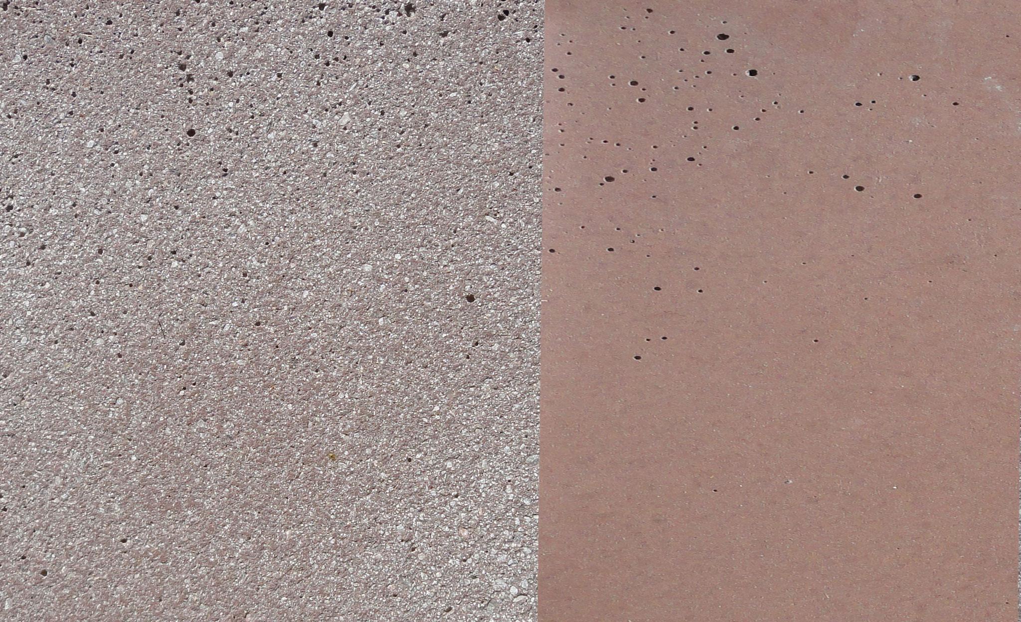 Farbe: rot-grau, Farbnummer: 6, sandgestrahlt/schalrein