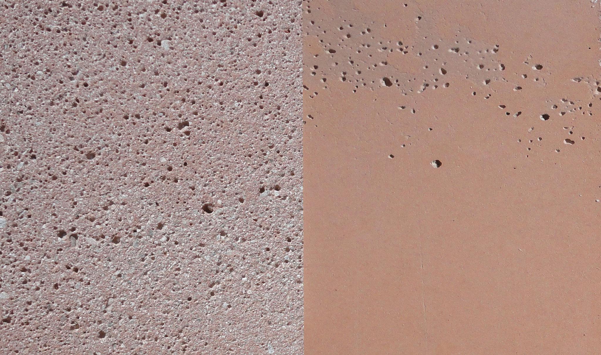Farbe: ocker-rot, Farbnummer 7, sandgestrahlt/schalrein