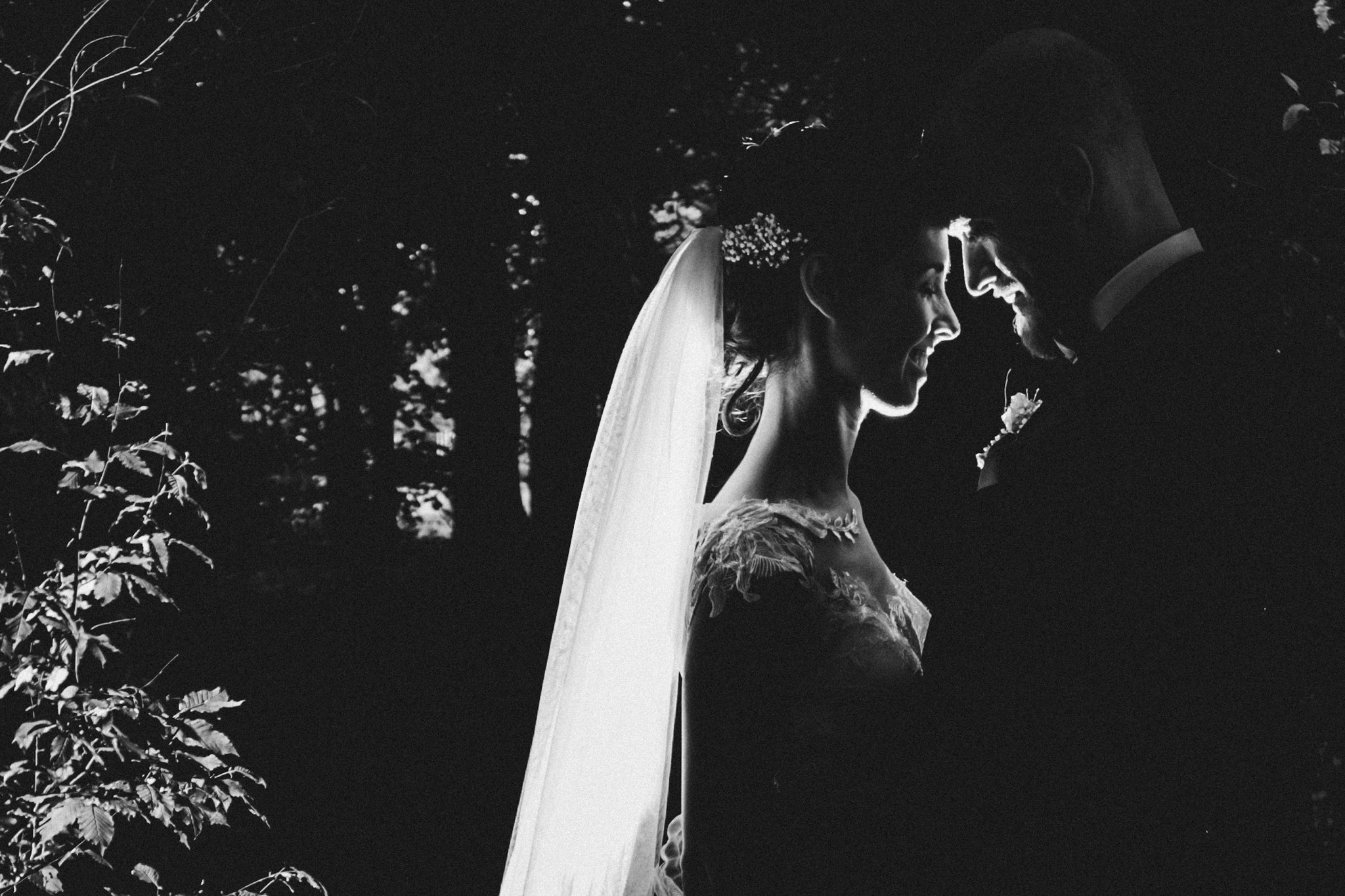 Schwarz Weiß Hochzeitsfotograf