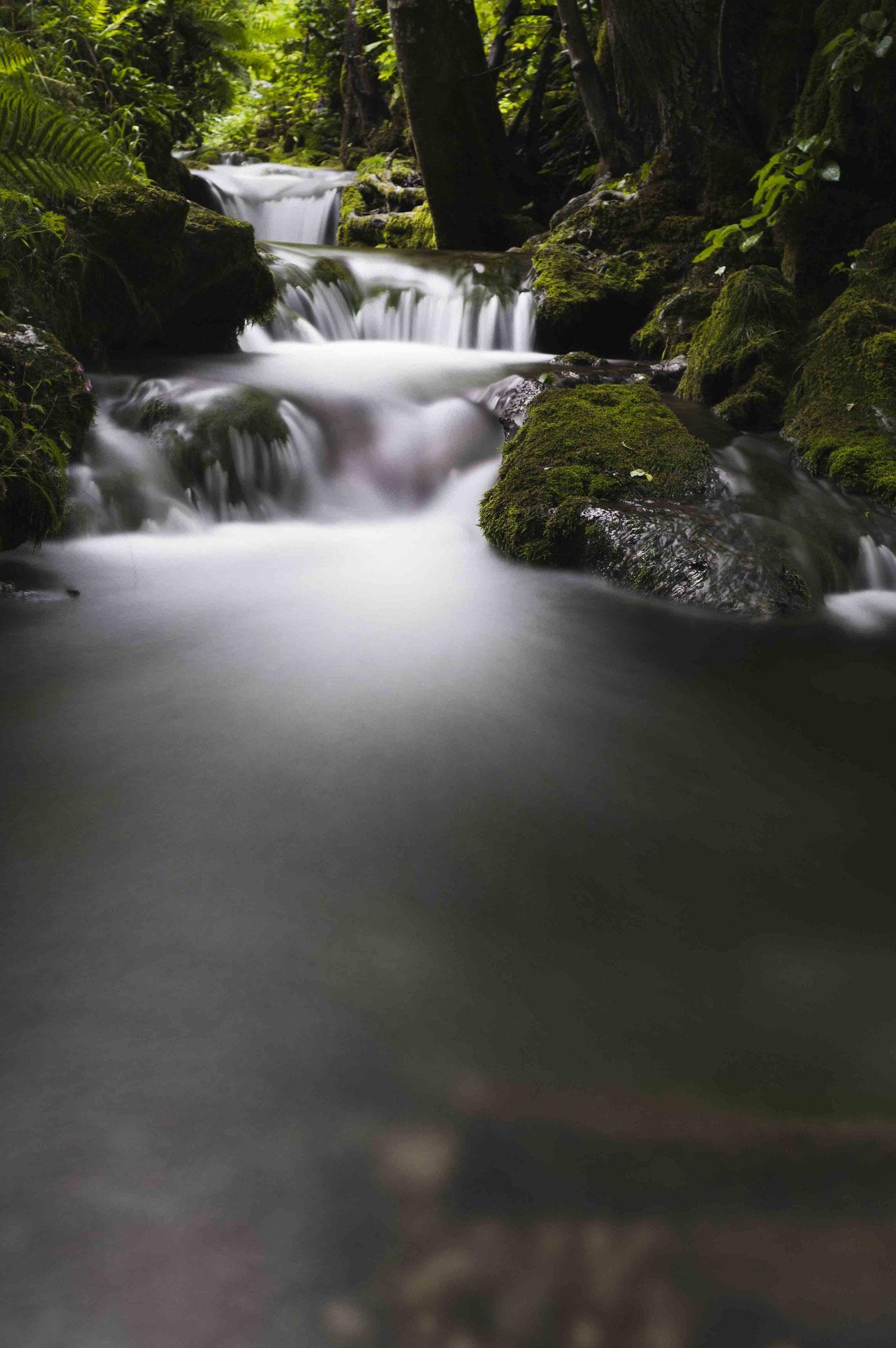 Da fließt er dahin; Wasserfall Bad Urach