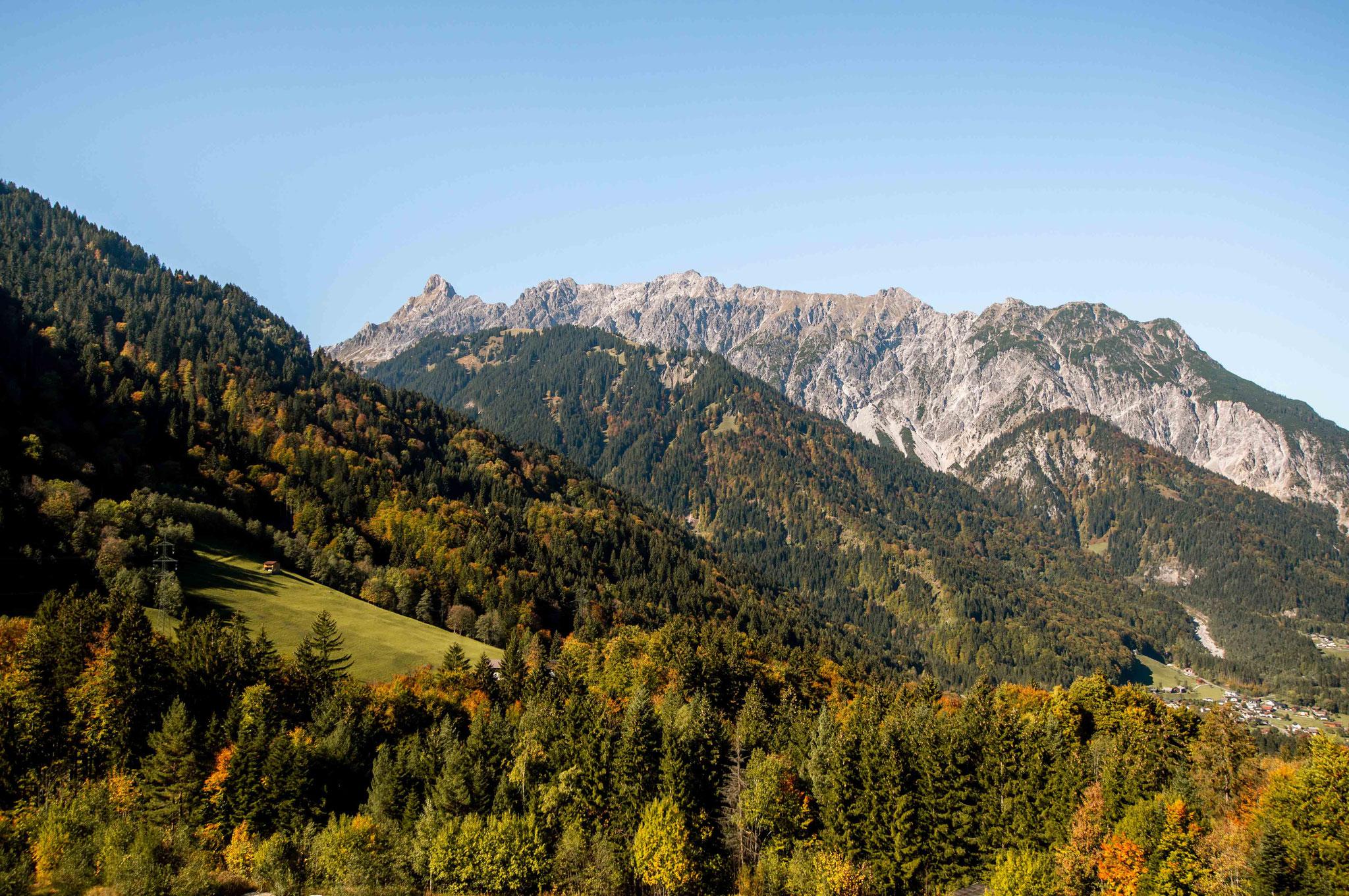 Berge im Herst; Golm Montafon
