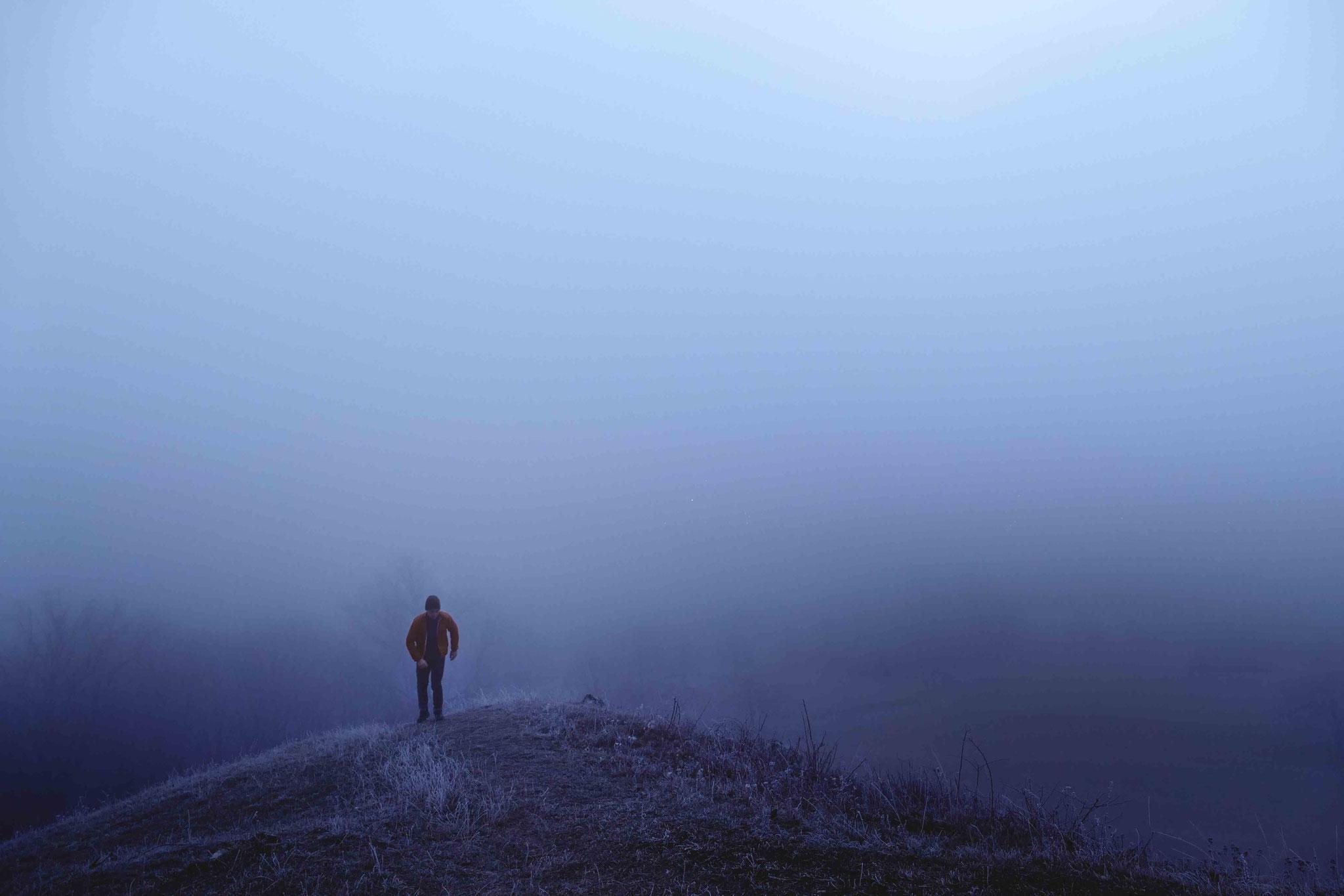 Aufstieg im Neble, Burg Teck
