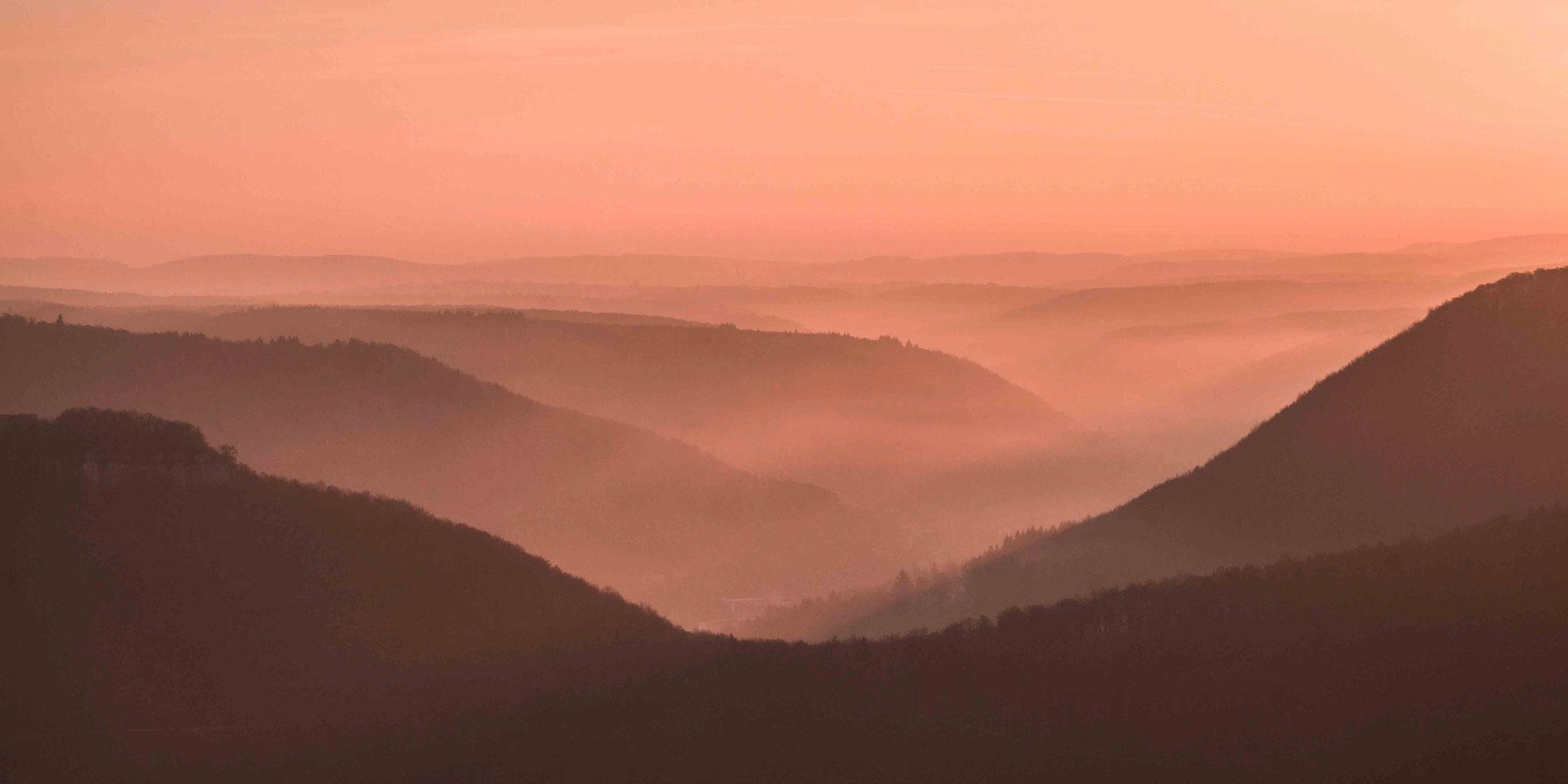 Orange Rotes Tal; Ermstal bei Bad Urach