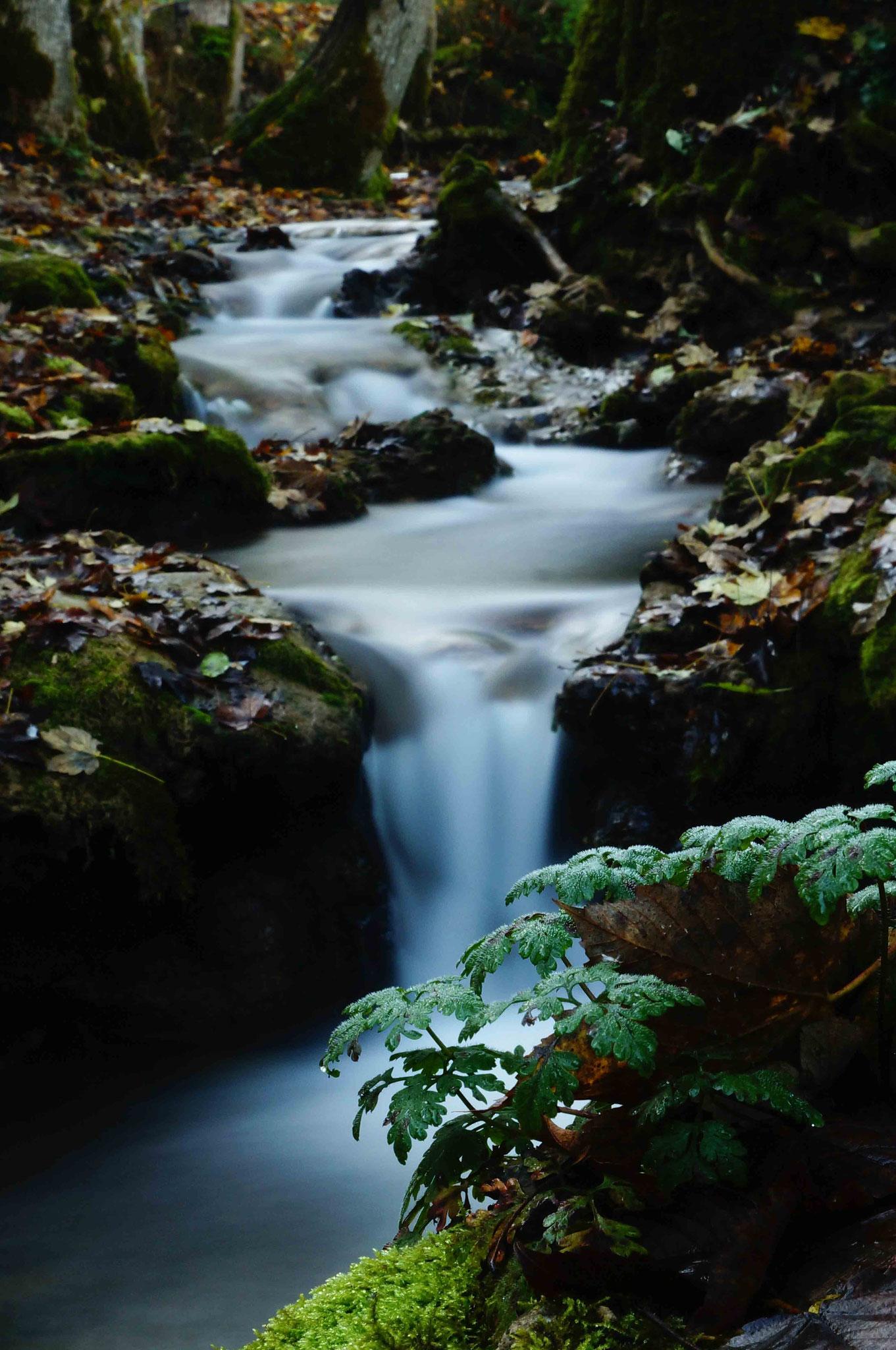 Bachlauf; Wasserfall Bad Urach