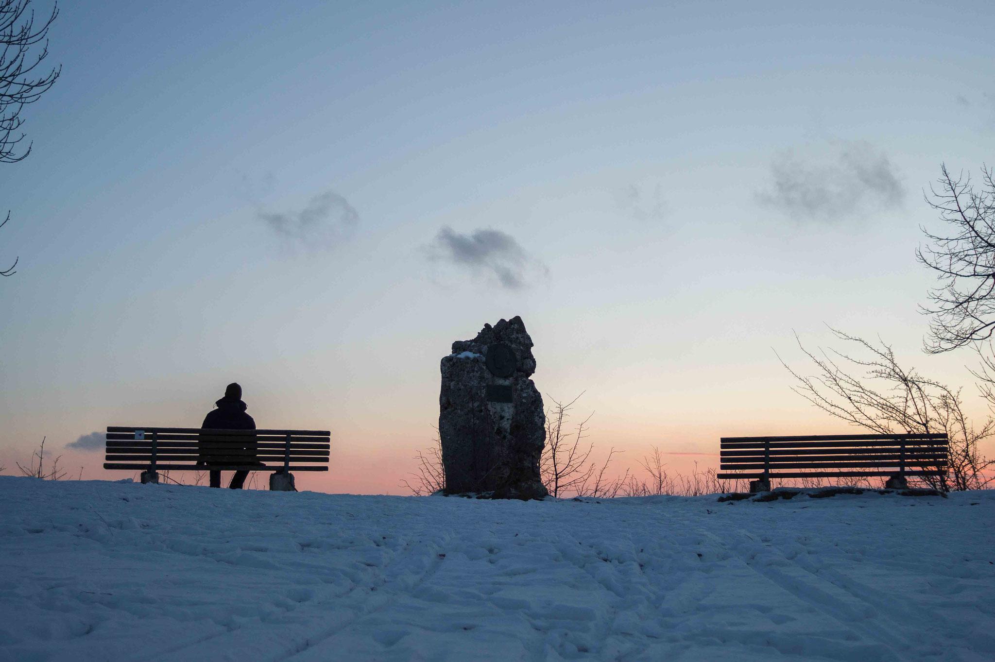 Einsamer Morgen; Rutschenfelsen St. Johan
