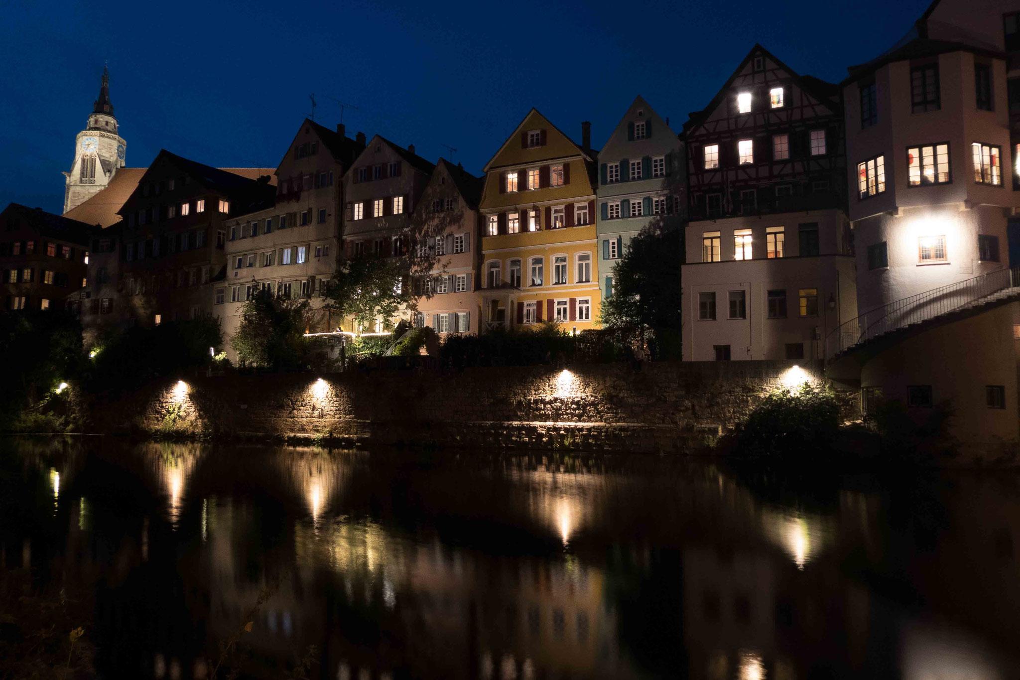 Neckar im Lichtermeer; Tübingen