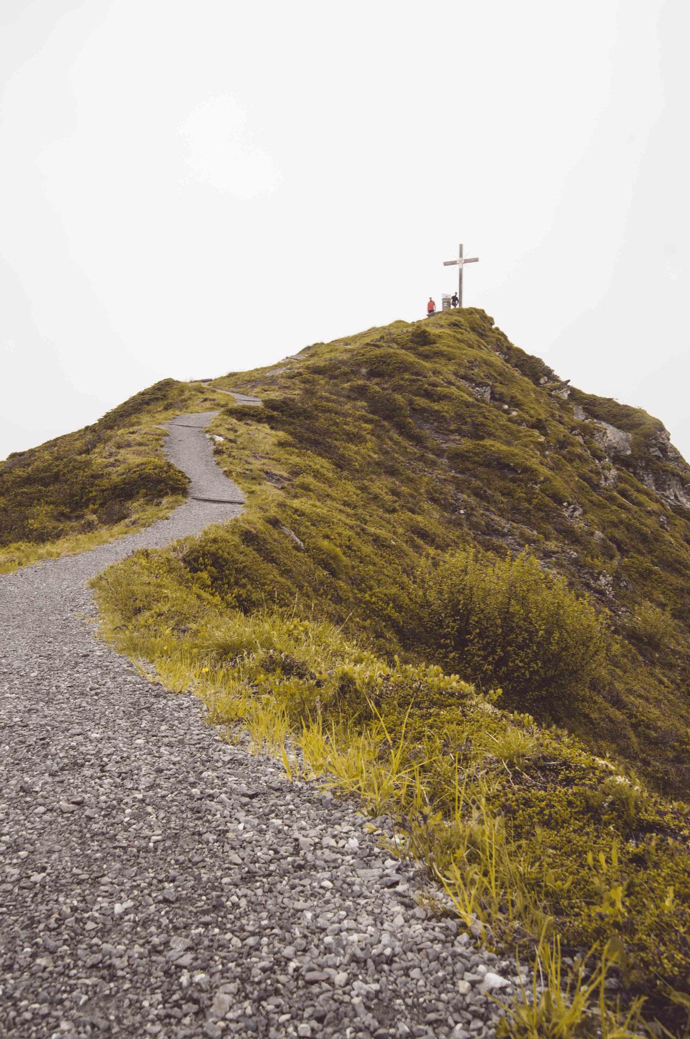 Der Weg zum Gipfel; Golm Montafon