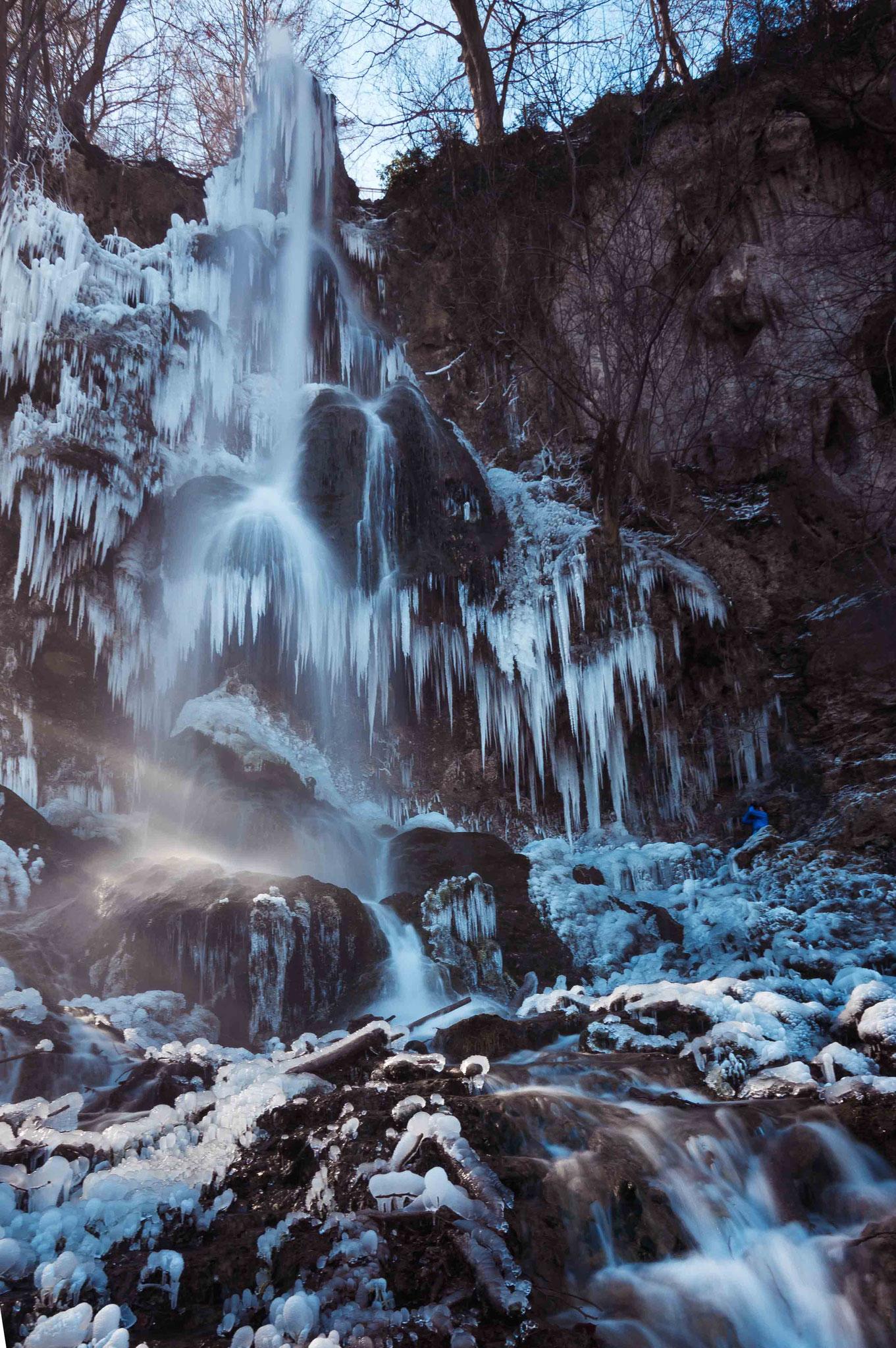 Gefrorener Wasserfall; Wasserfall Bad Urach
