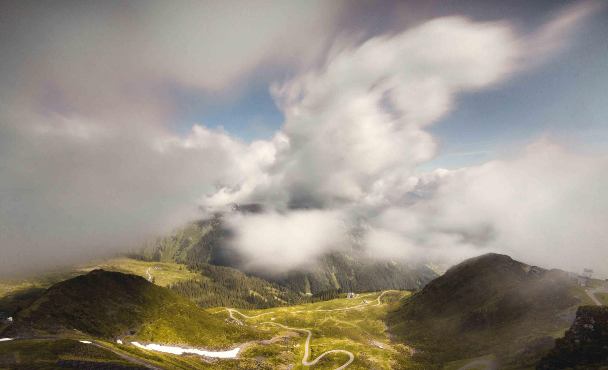 In den Wolken; Golm Montafon
