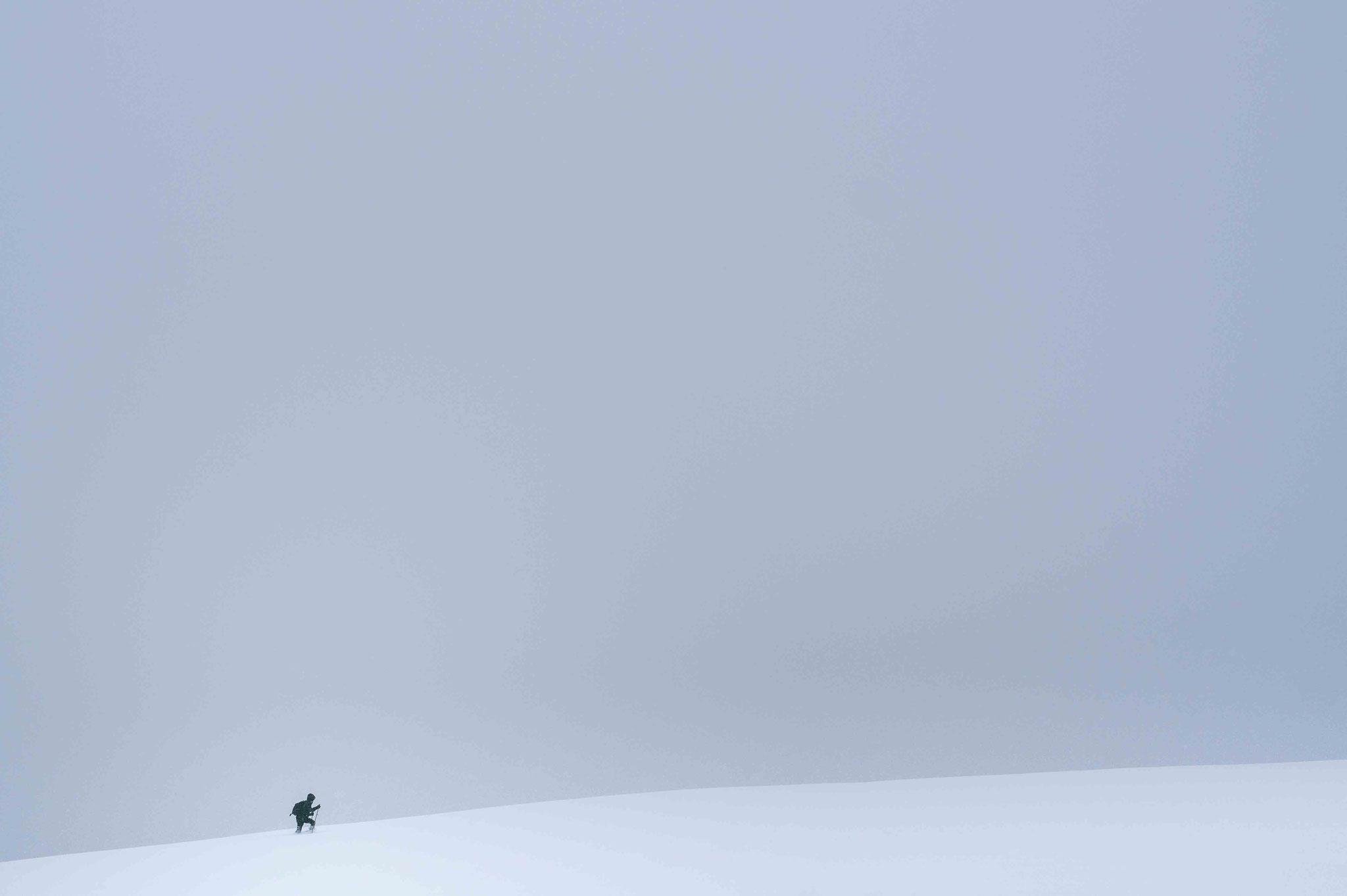 Alleine im Schnee; Schwäbische Alb