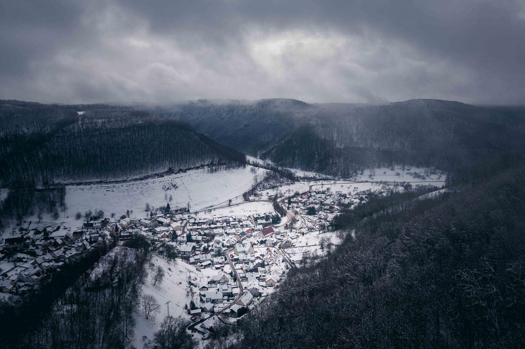 Winterlandschaft der Schwäbischen Alb; Gutenberg