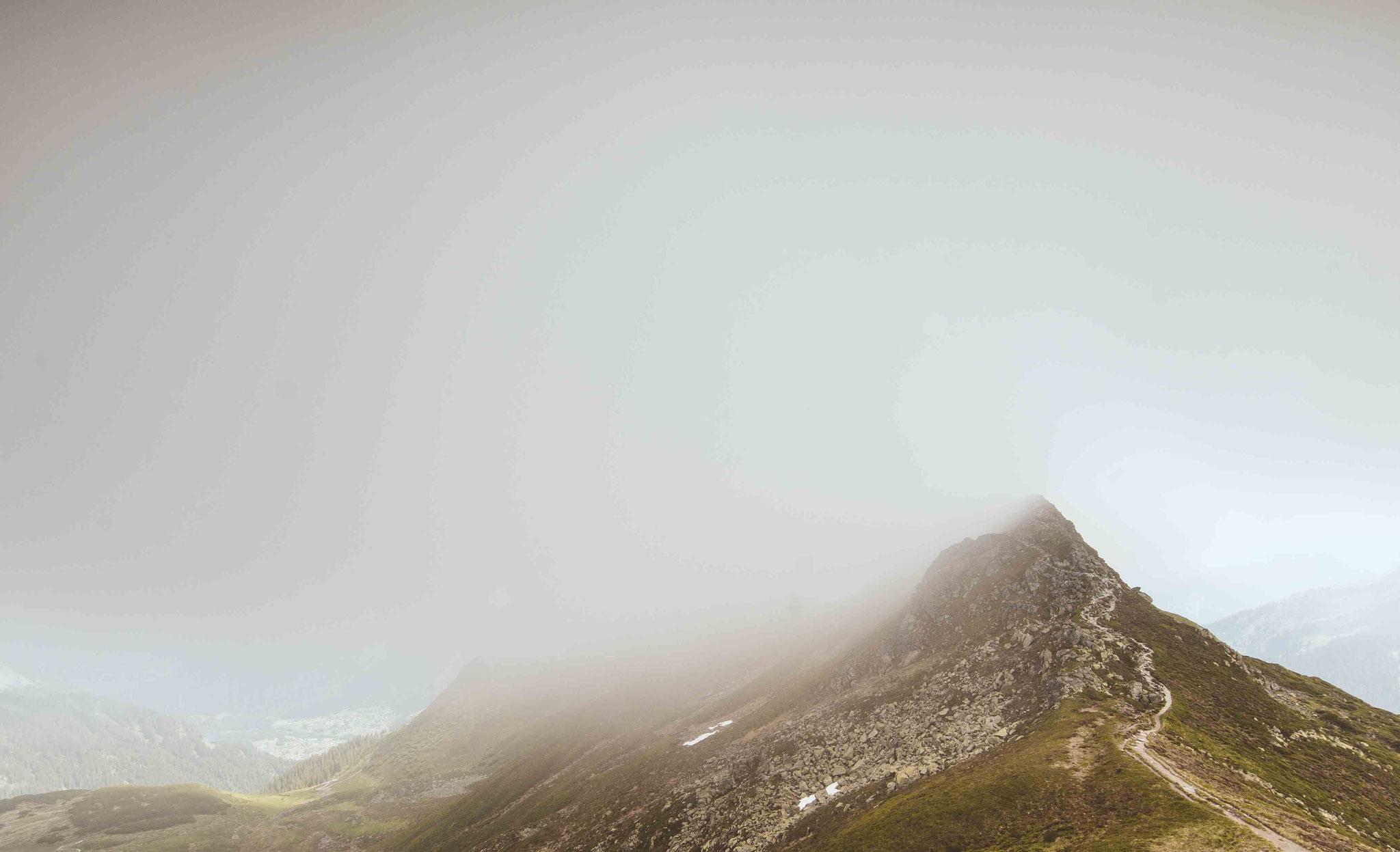Wandern durch die Wolken; Golm Montafon