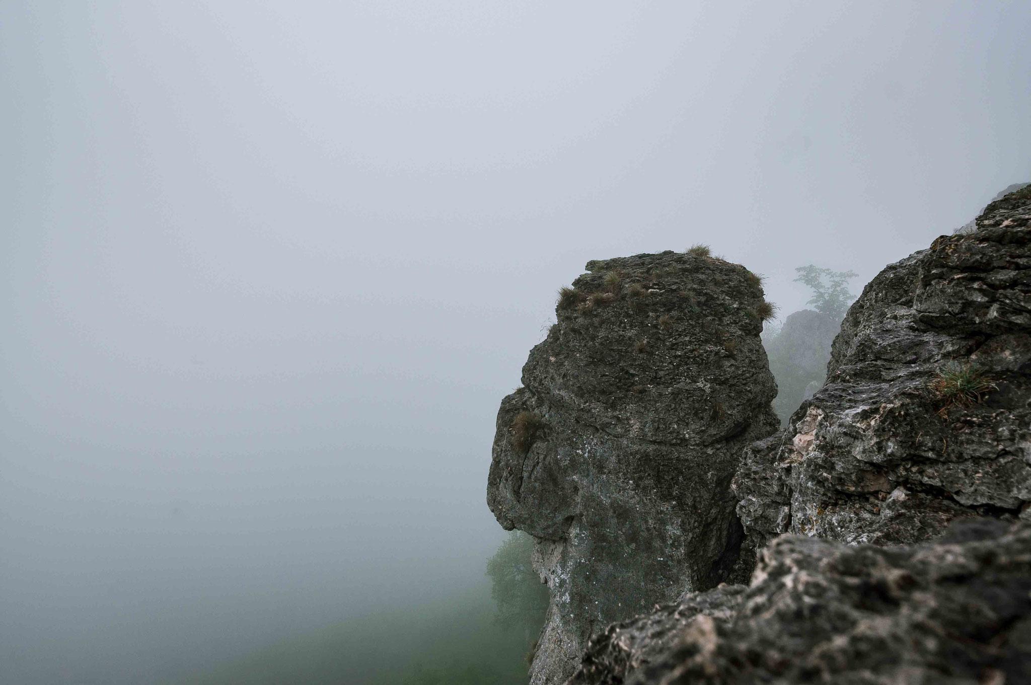 Fels im Nebelmeer; Neidlingen