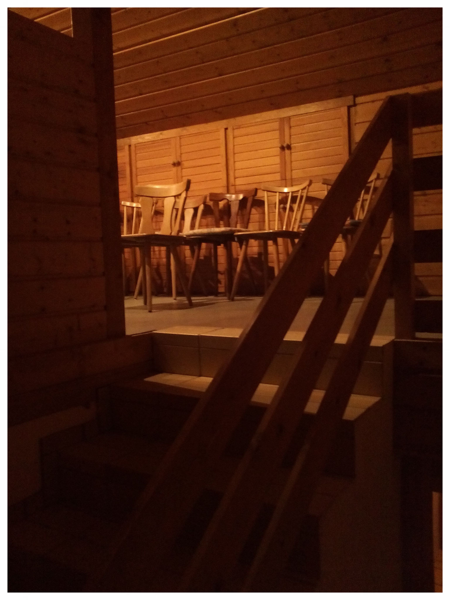 Der Jugendchor nutzte nur ab und an den  unbeheizten Raum zu seinen  Proben.