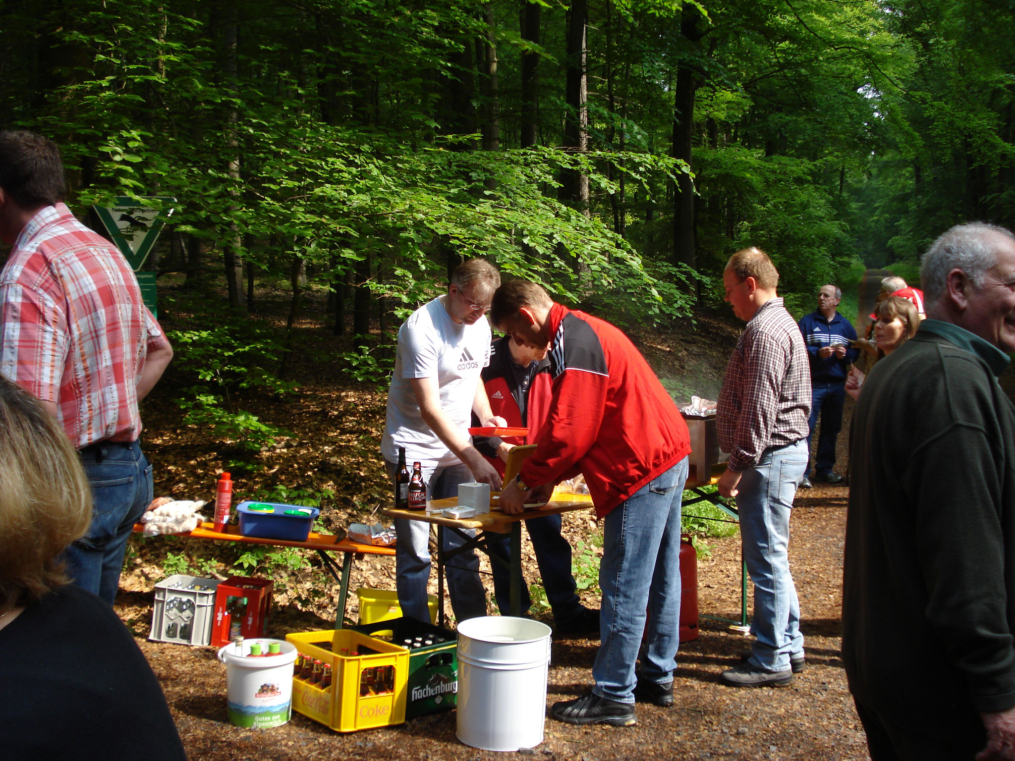 Mobile Verpflegung im Wald