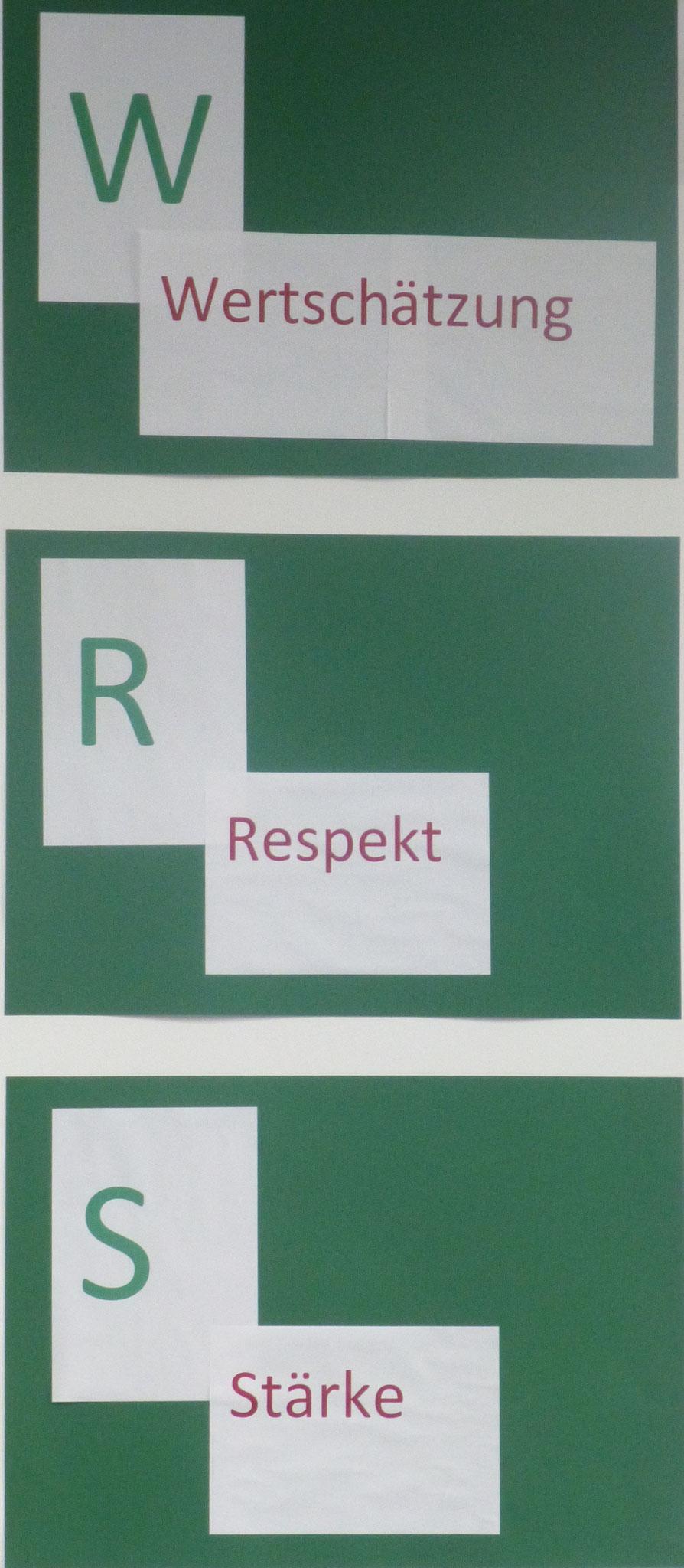 Wertschätzung - Respekt - Stärke