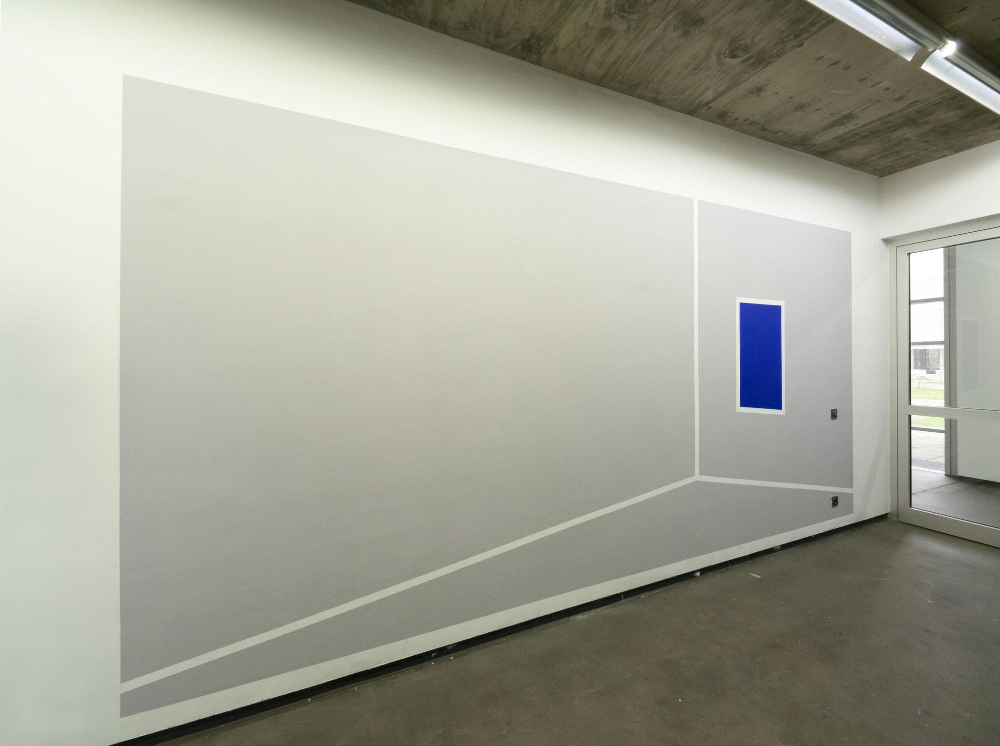 Zimmer mit Meerblick, Wandfarbe/Acryl auf Putz, 280 x 390cm, 2019