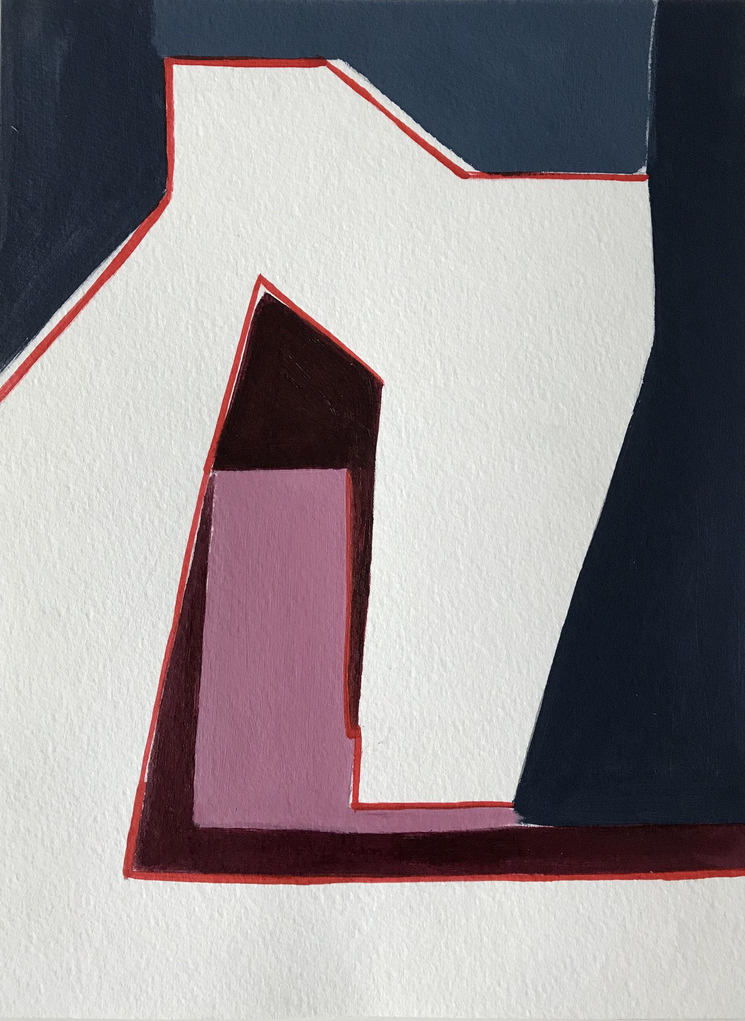 Michel/ Piz Uter, Acryl auf Papier, 29 x 21cm, 2019