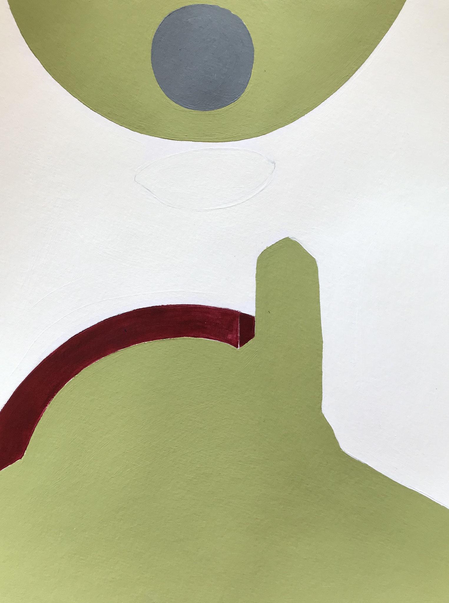 Turrell/ Piz Uter, Acryl auf Papier, 29 x 21cm, 2019