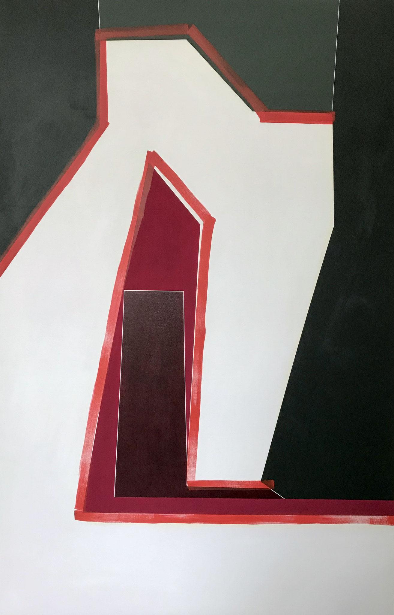 o.T., Acryl auf Leinwand, 200 x 120cm, 2019