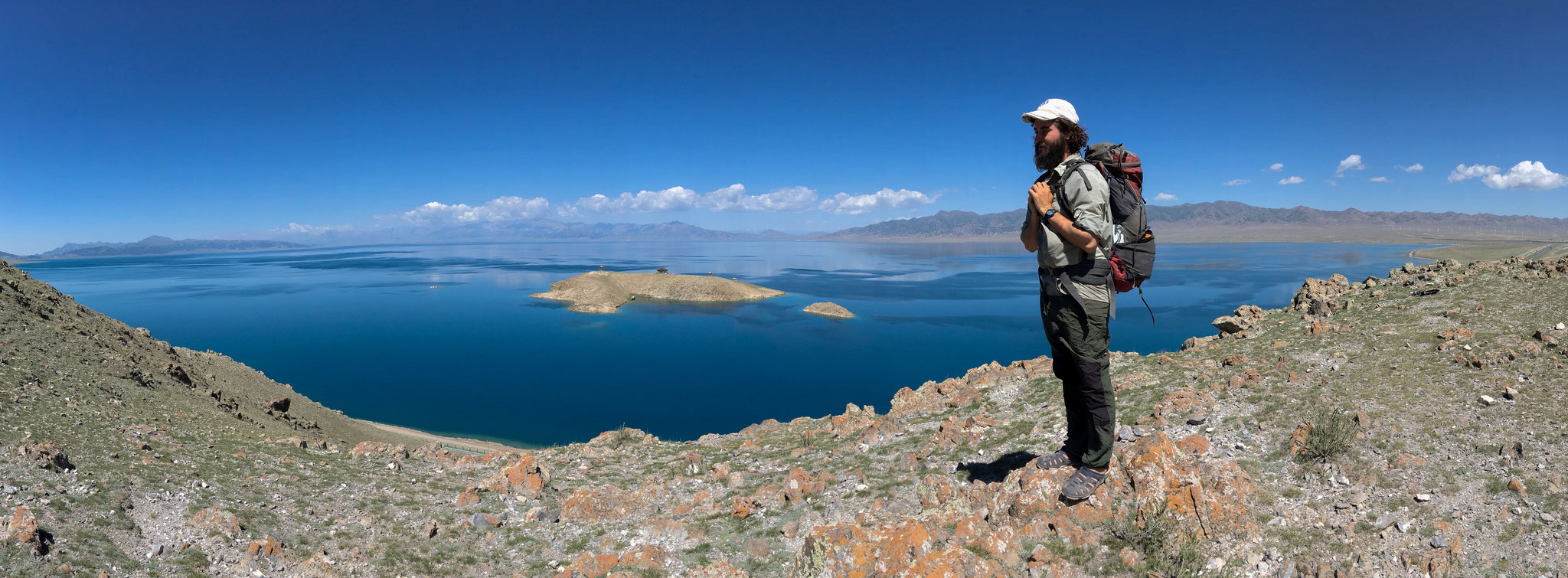 Saylim Lake, also called Sayram Lake, is the largest alpine lake in China.