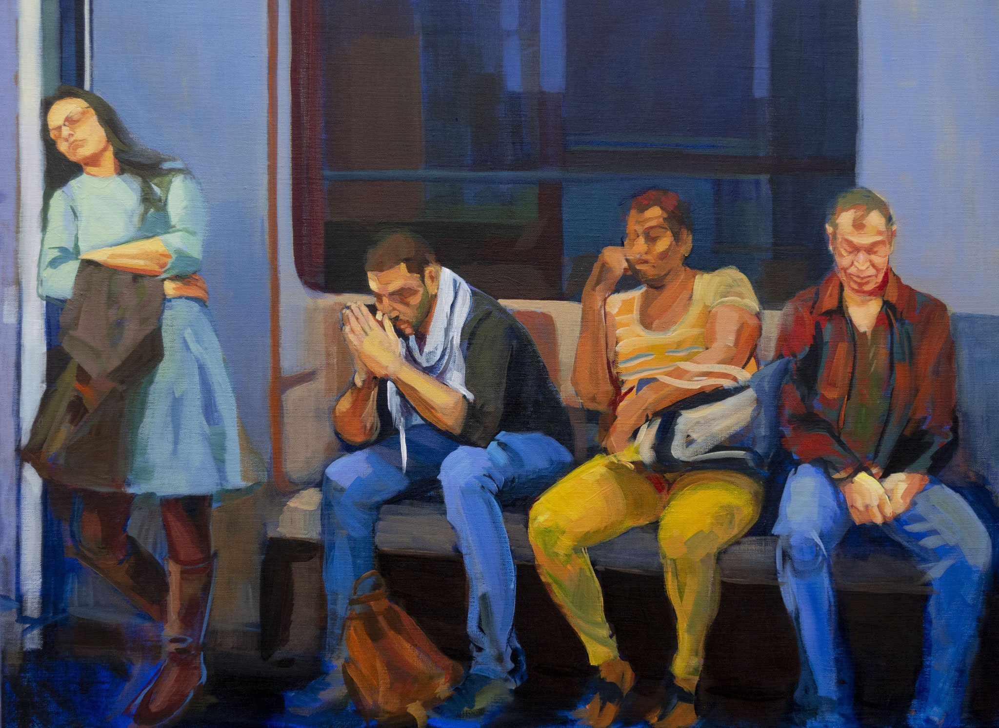Subway III. Acrylic on canvas. 60 x 81 cm.