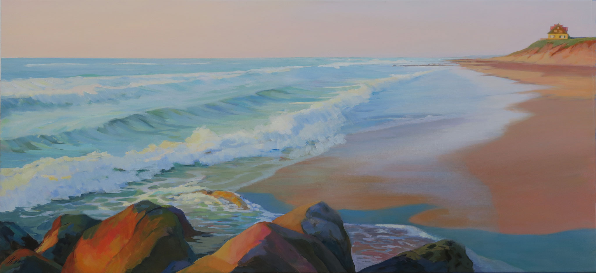Skagen, 130 x 60 cm. Acrylic on canvas