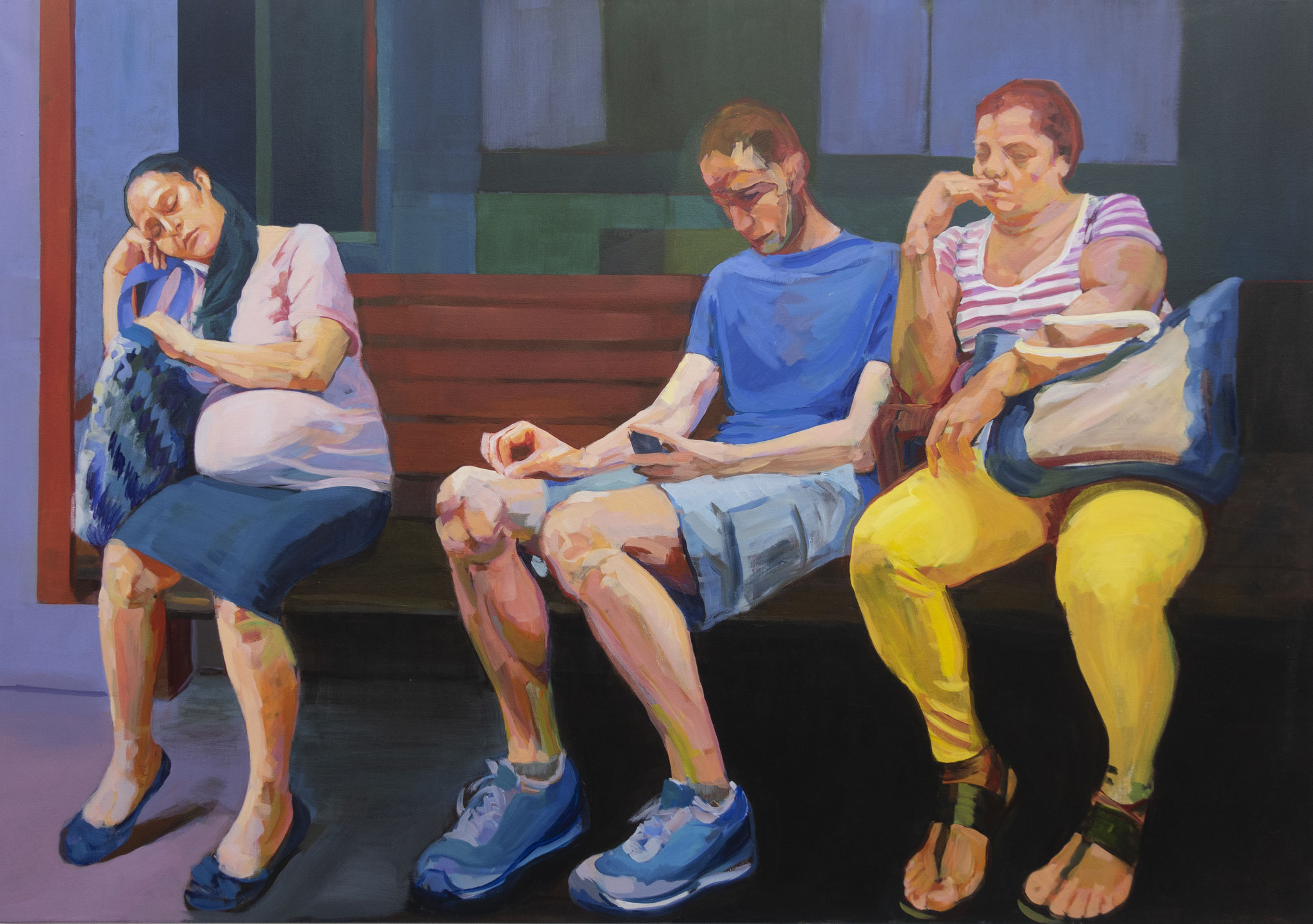 The end of the day, 81 x 116 cm.
