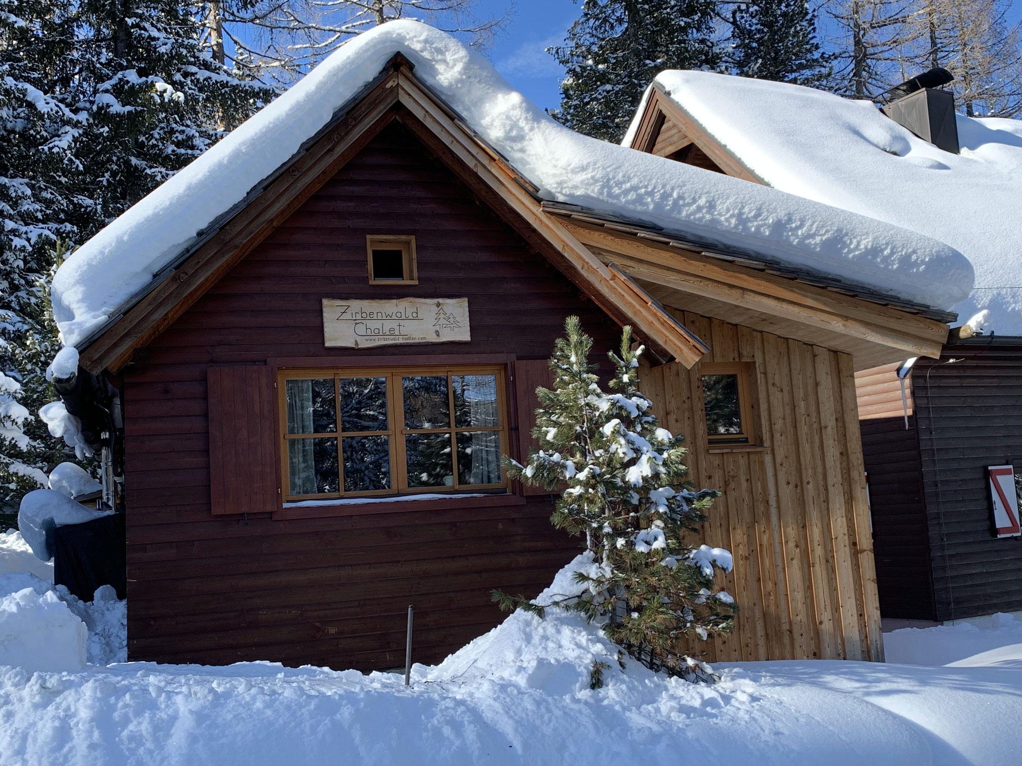 Zirbenwald-Chalet Turracher Höhe - Winter Südansicht