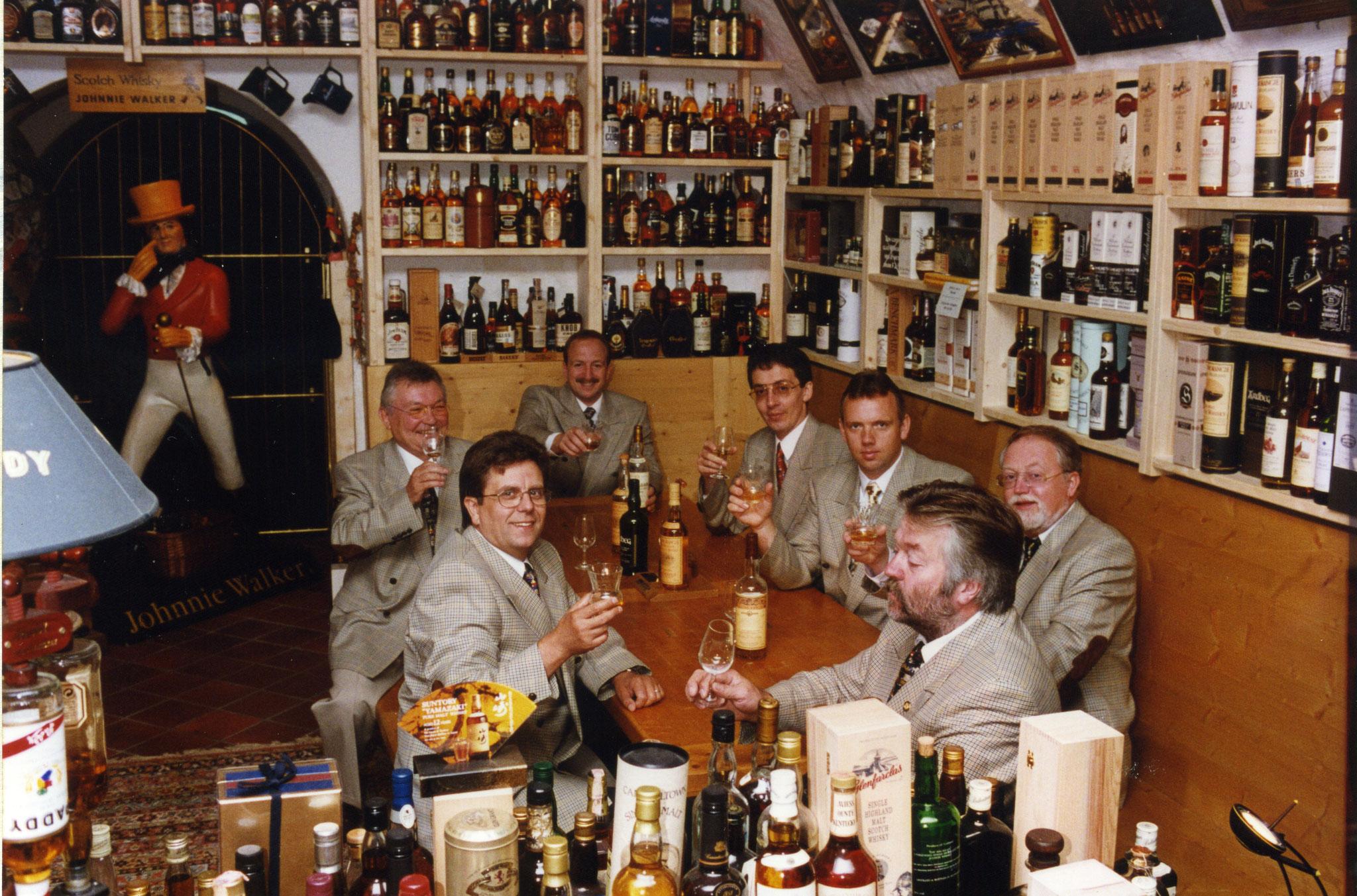 Im Whiskykeller der Kyrburg 1998