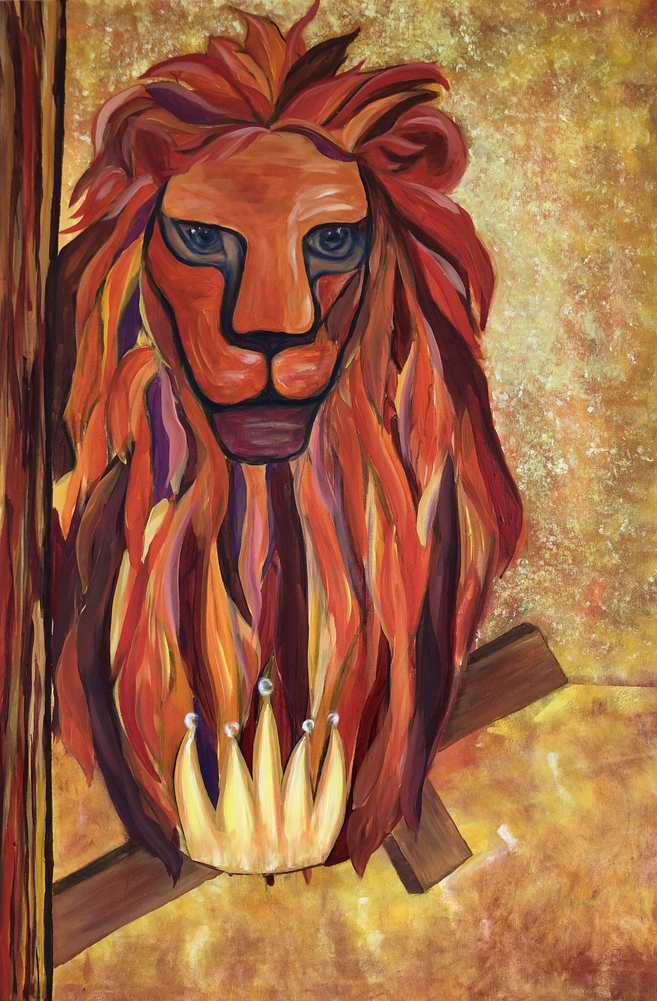 Matthäus, 100 x 80 cm, Acryl auf Leinwand