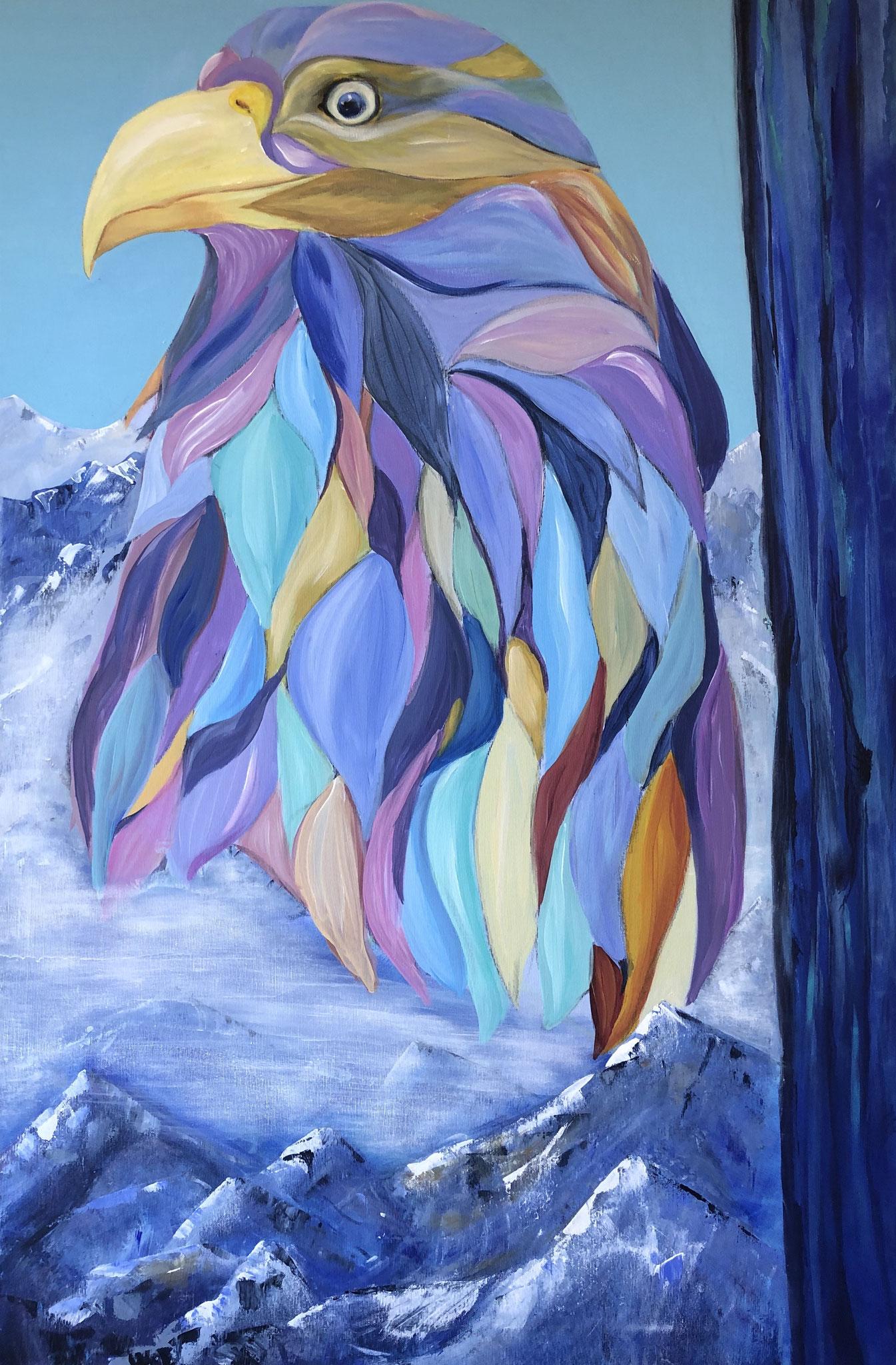 Johannes, 100 x 80 cm, Acryl auf Leinwand