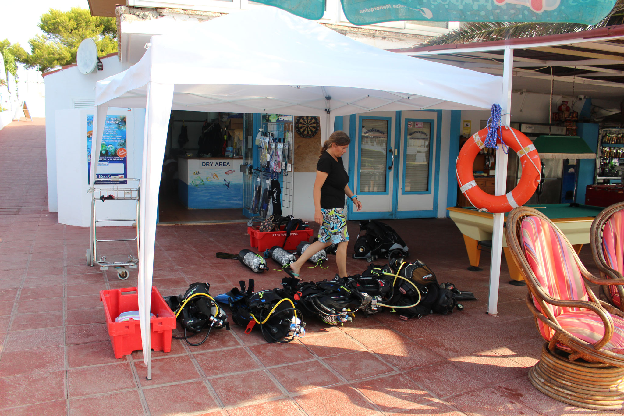 Preparation for an Open Water Dive