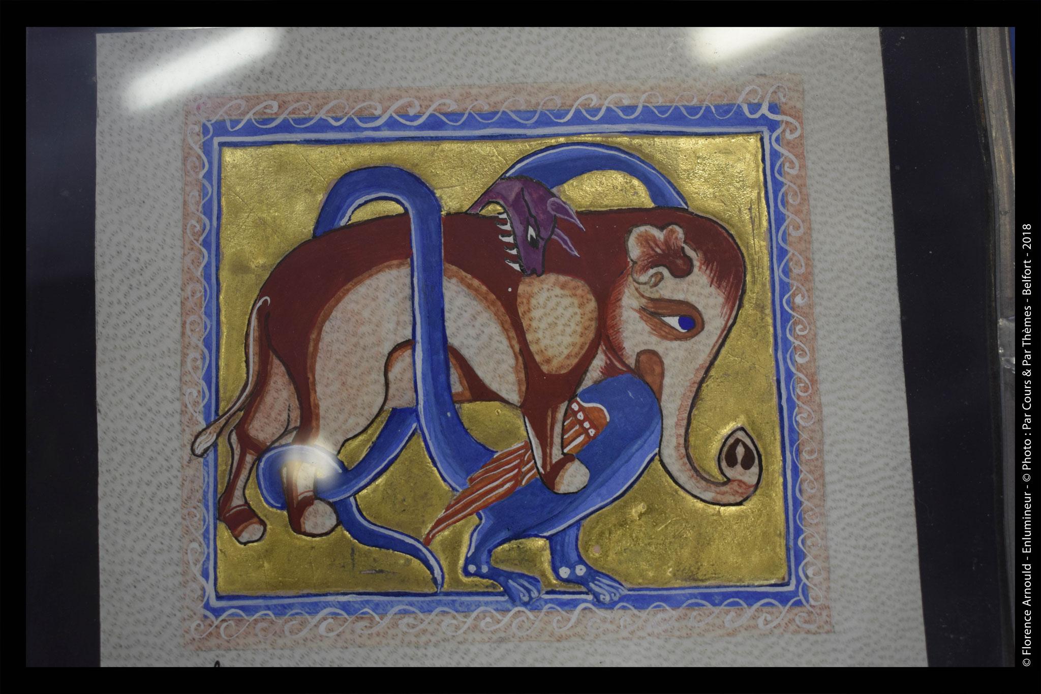 Reproduction du Bestiaire d'Aberdeen , folio 65 v. ( 19 x 21 cm) Diponible ( me contacter)