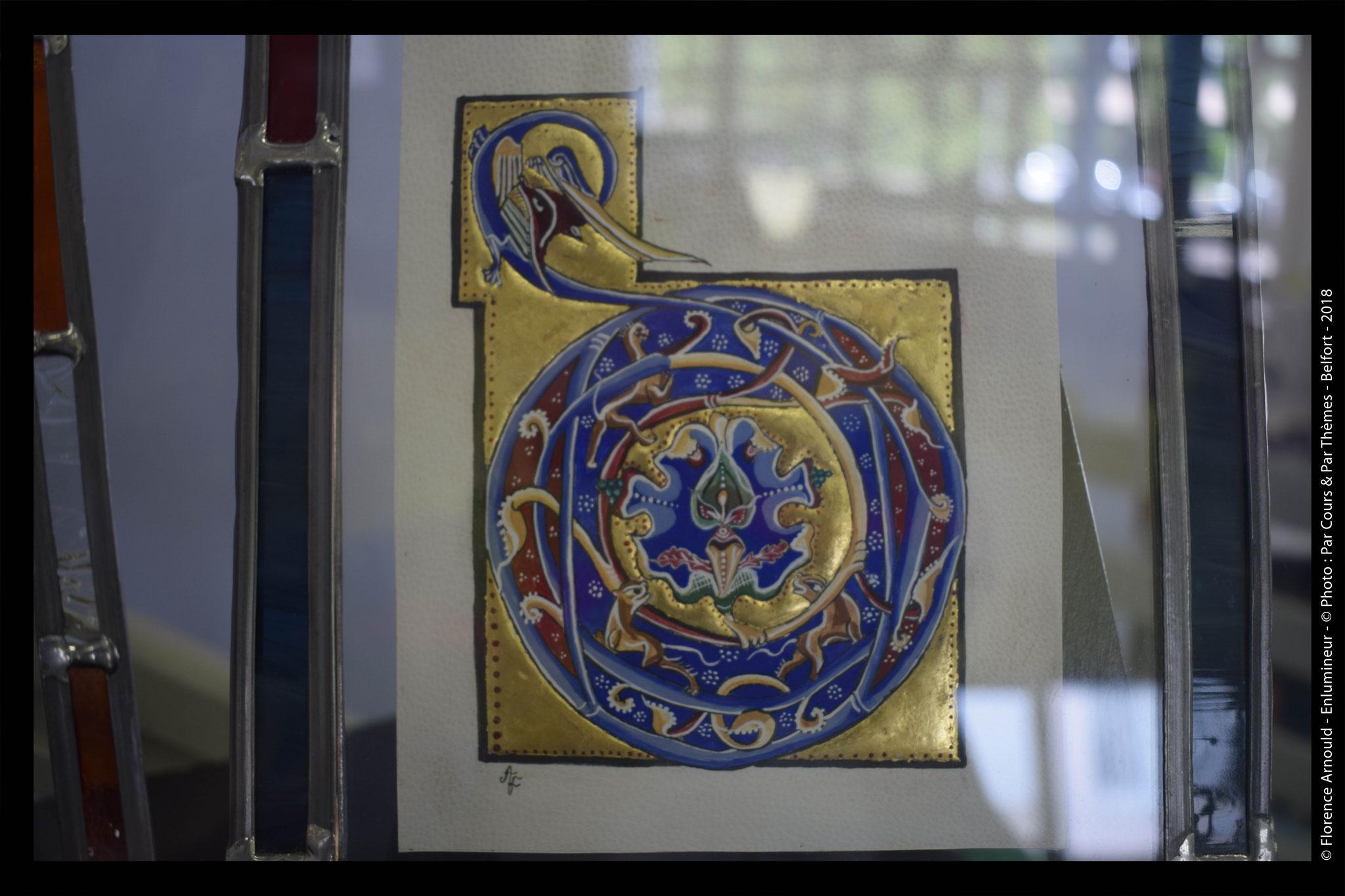 ( vendu) Reproduction D , livre de la Sagesse  , Bible de Clermont-Ferrand vers 1170-1180 ( 24 x 20,5 cm)