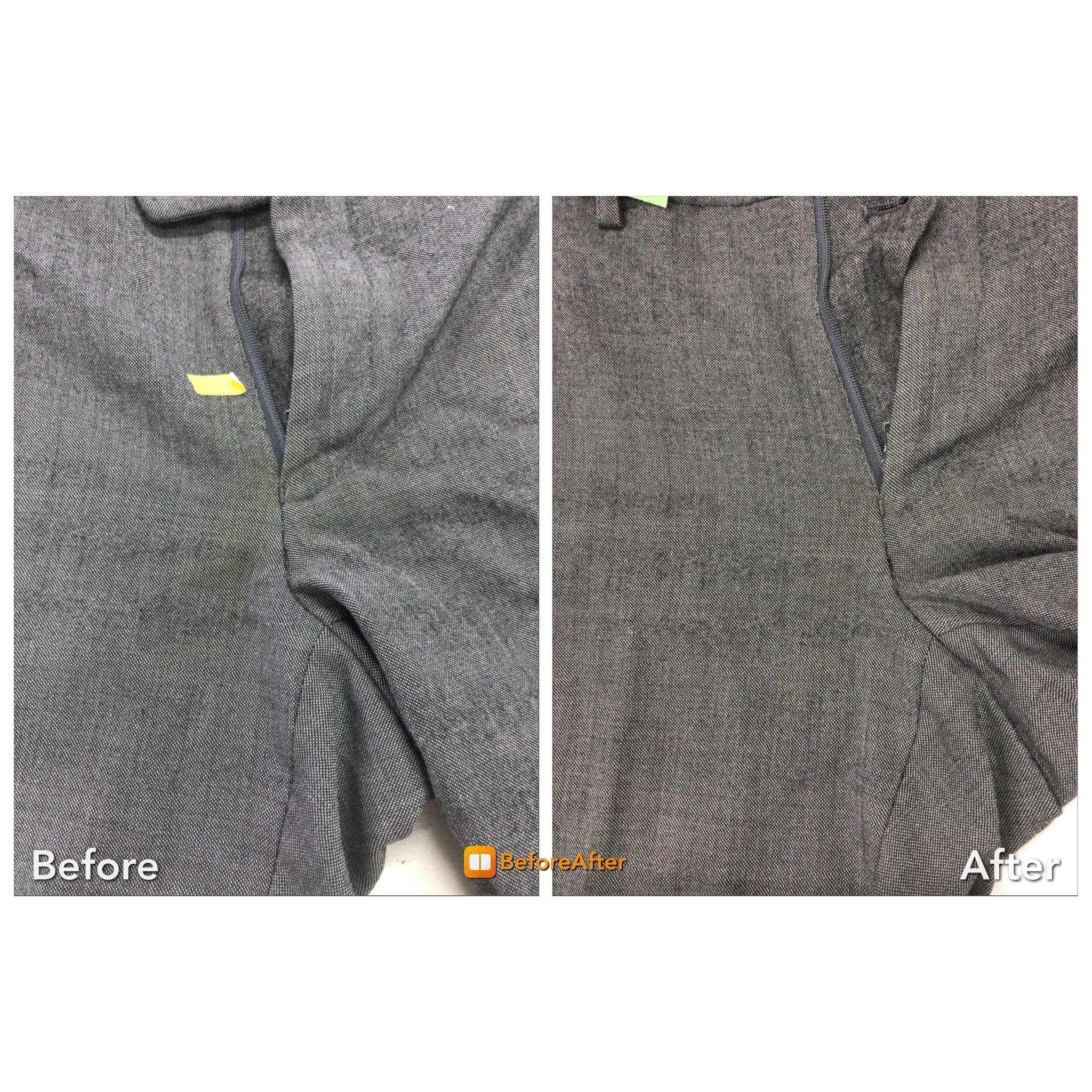 スラックス 股の黄ばみ 復元加工