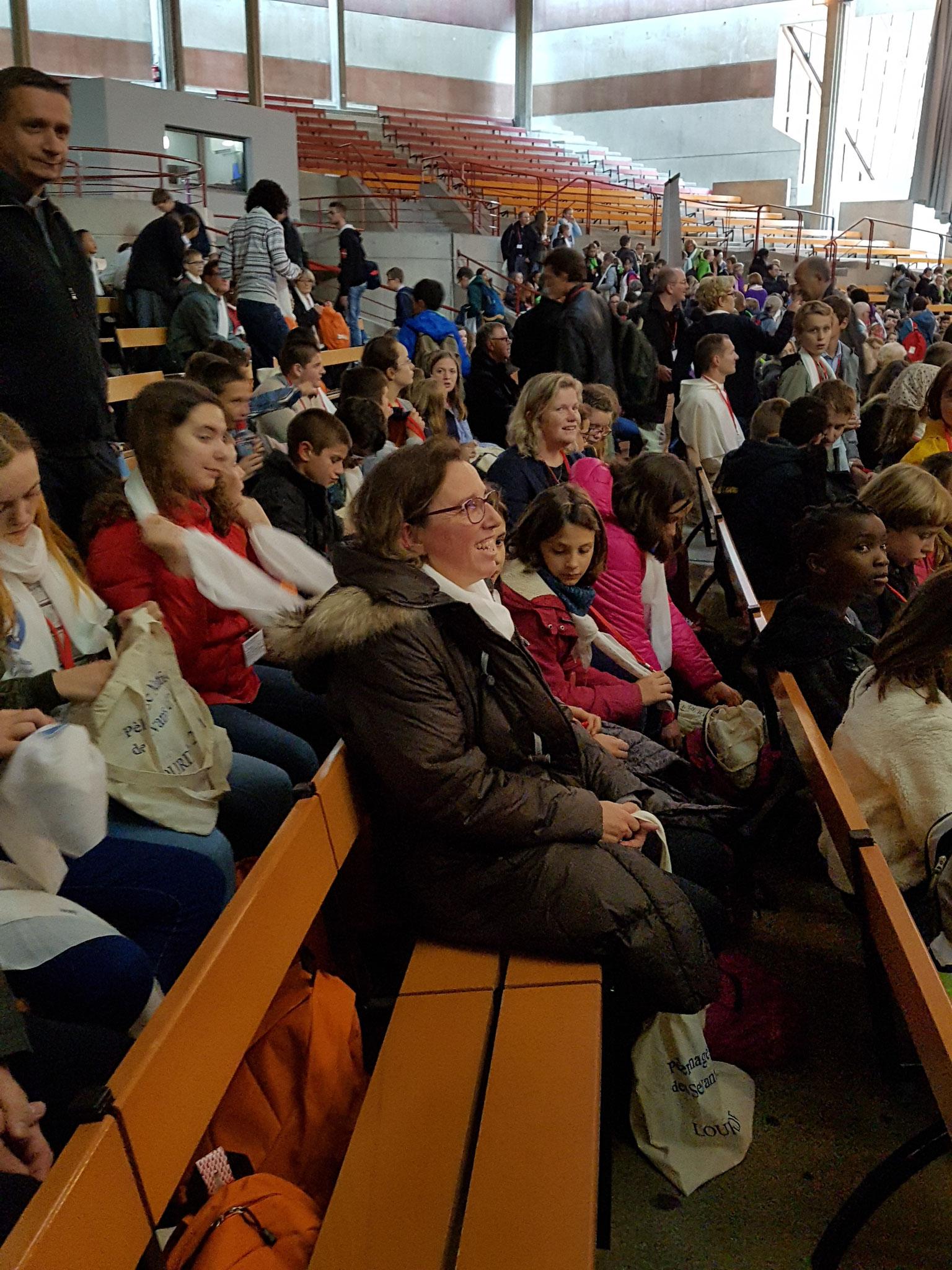 Temps d'accueil à la basilique Sainte Bernadette