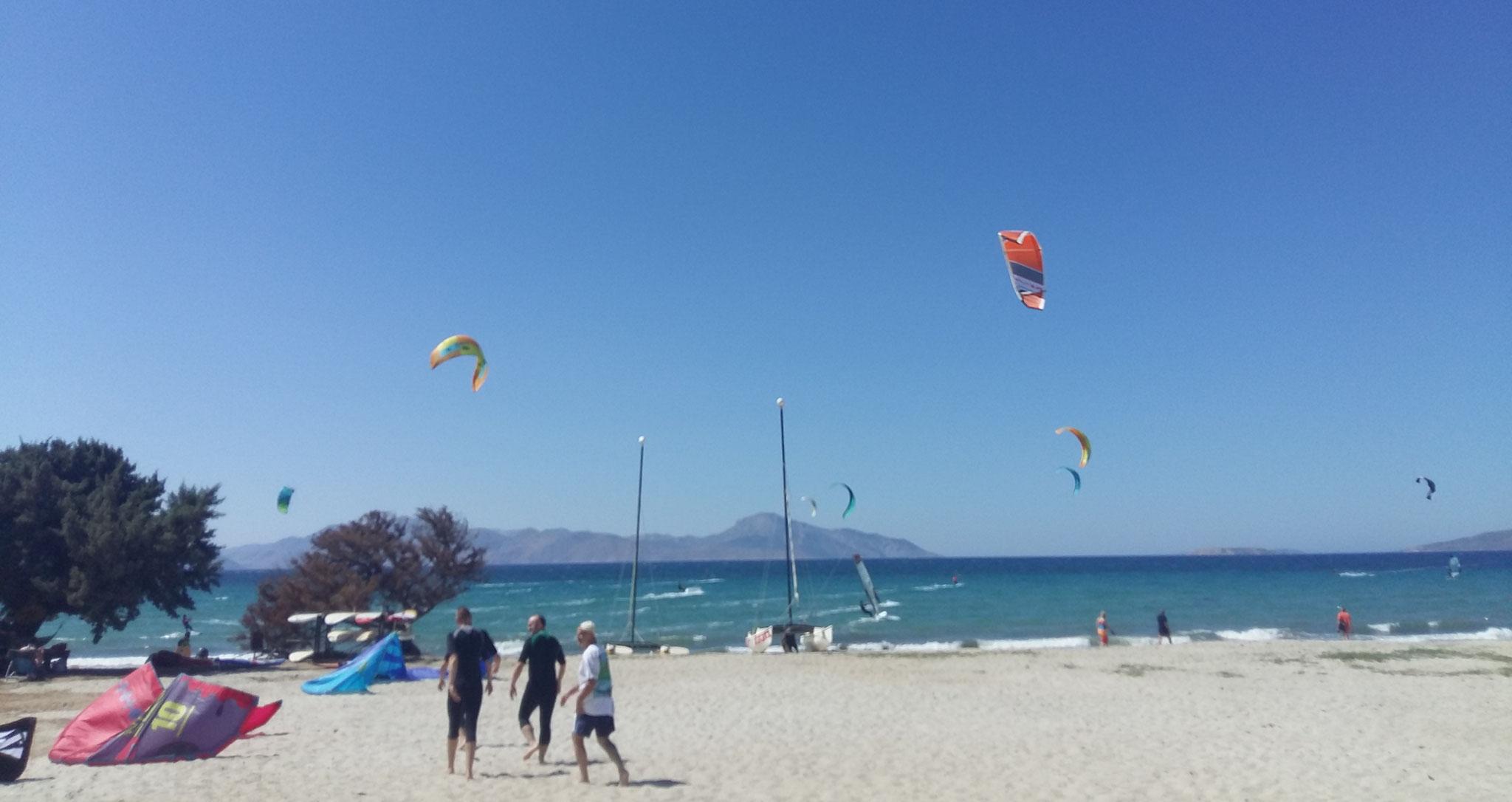 learning kitesurfing kos