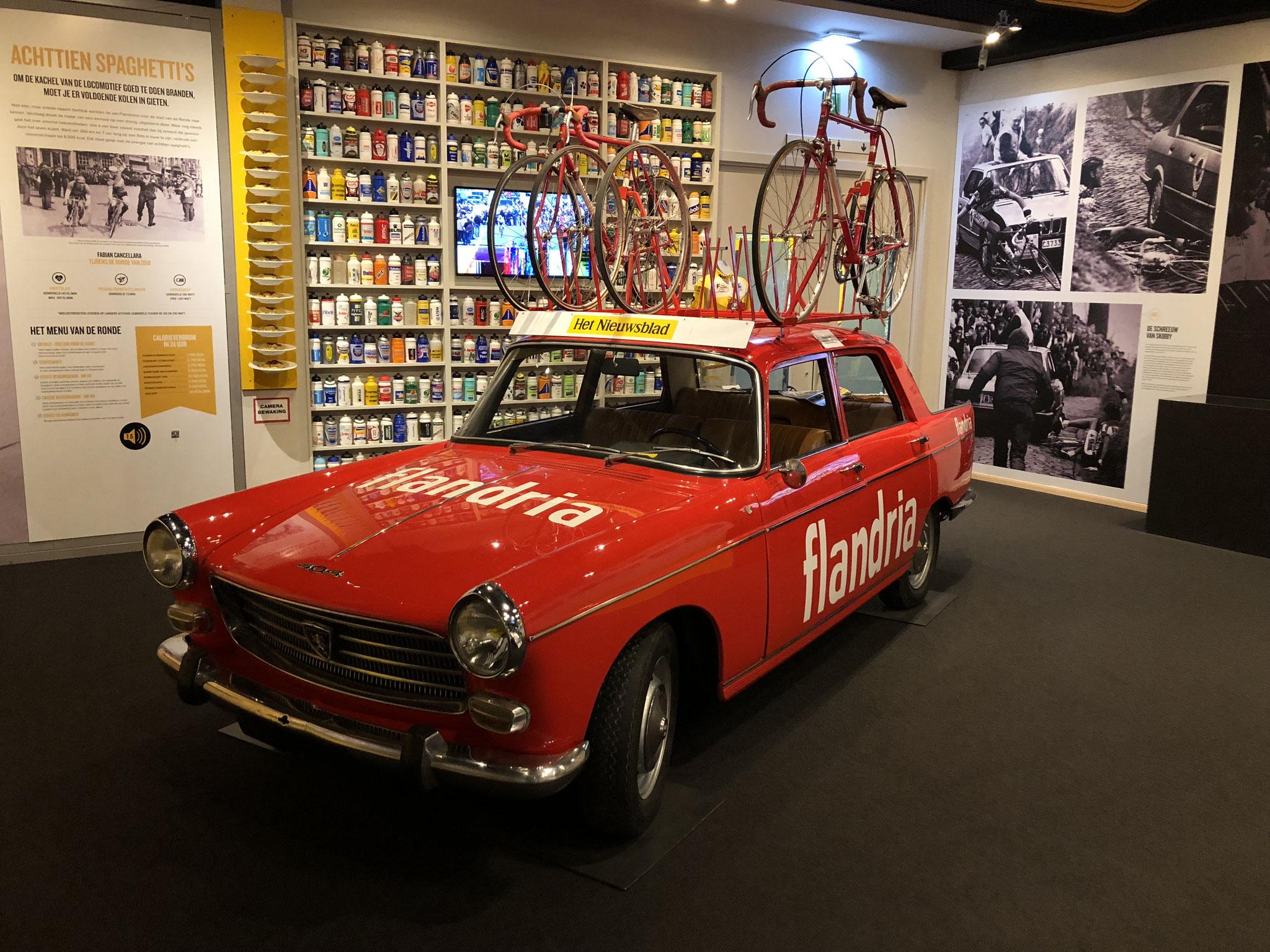 Fahrzeug des legendären Flandria-Teams. Die Mannschaft des belgischen Fahrrad- und Motorradherstellers Claeys Flandria war von 1959 bis 1979 unterwegs.