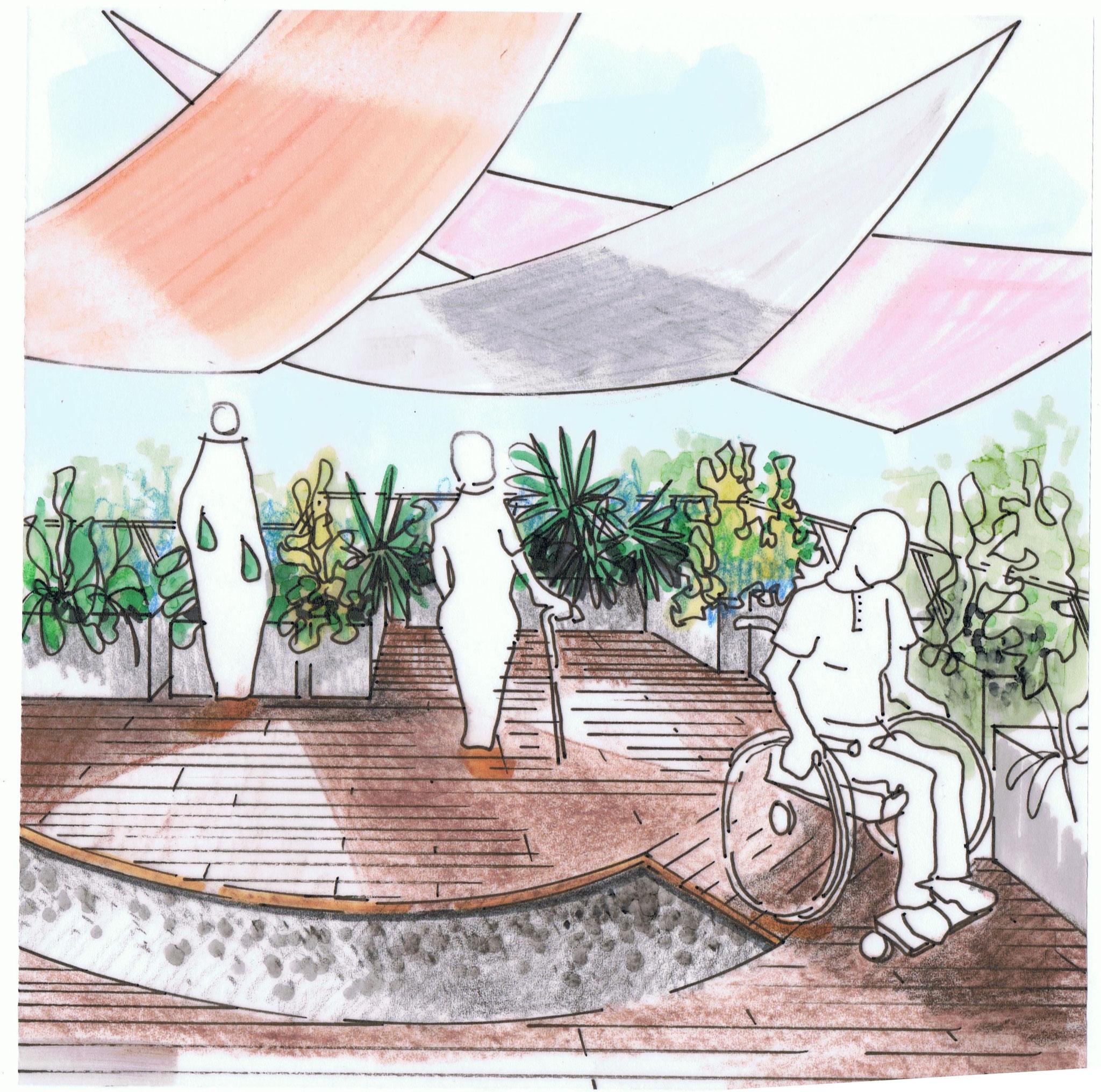 Un jardin accessible à tous.