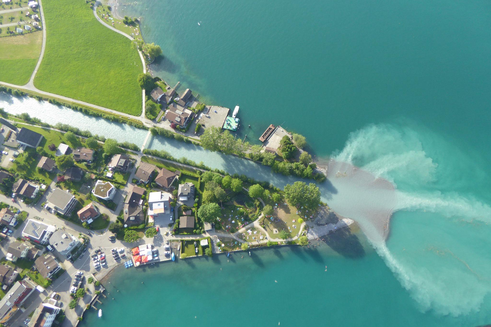 Badeflug mit Landung direkt am Badestrand