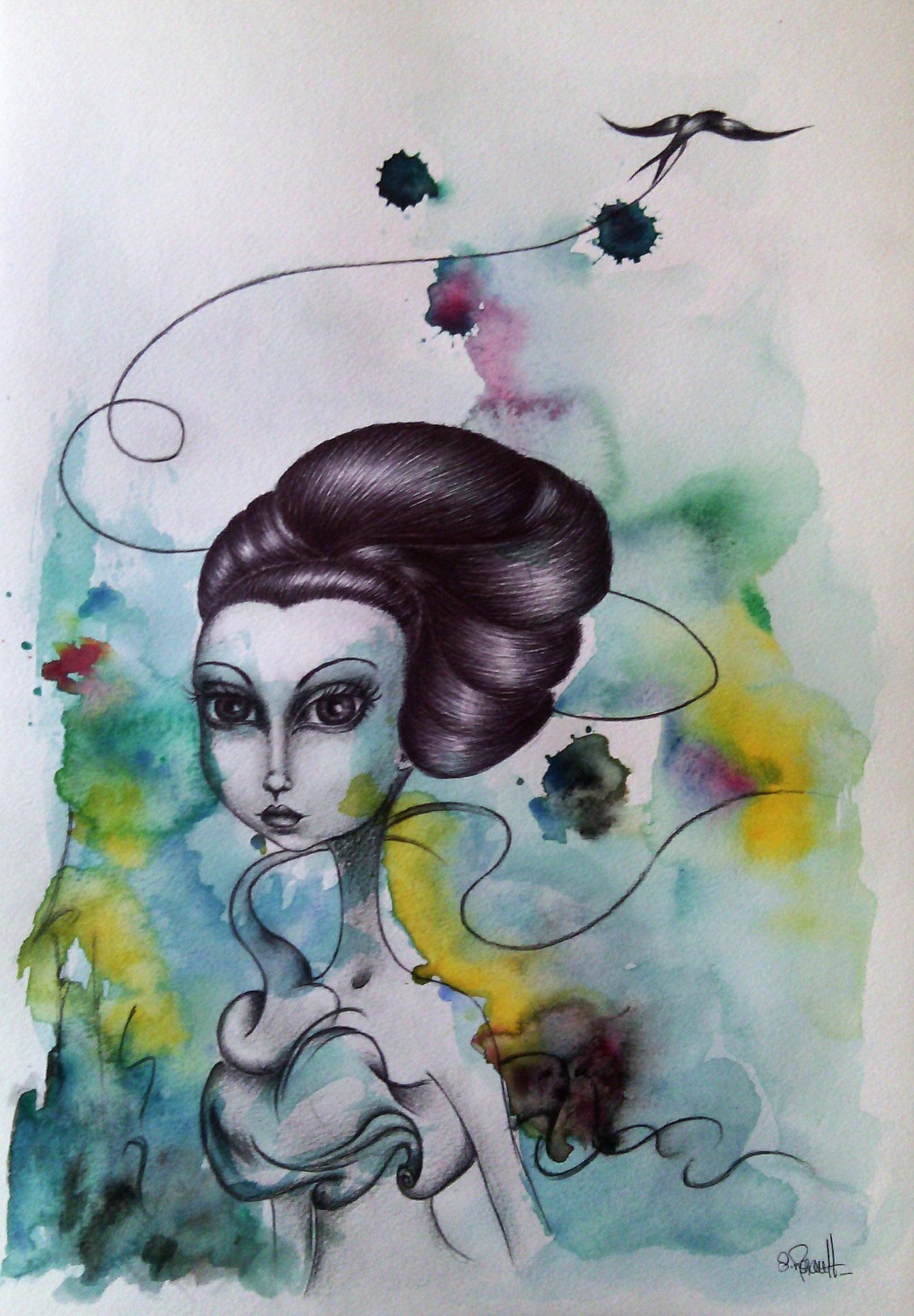 Vingt mille Lieues sous mes Rêves II (30x40 cm) 2014