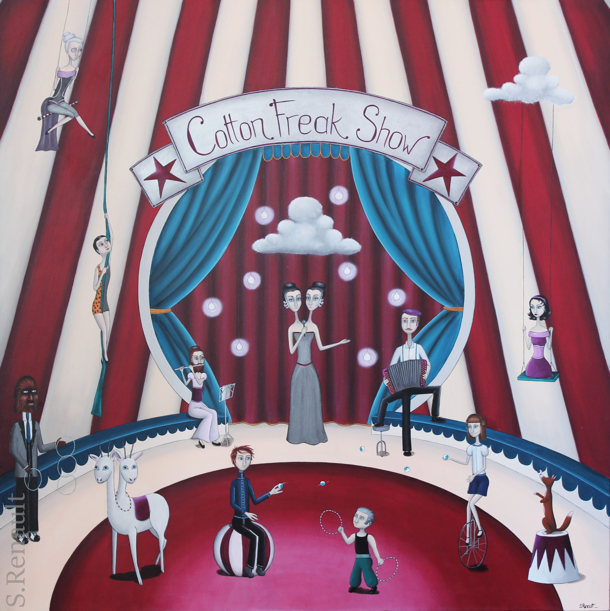 Cotton Freak Show (120x120 cm) 2016