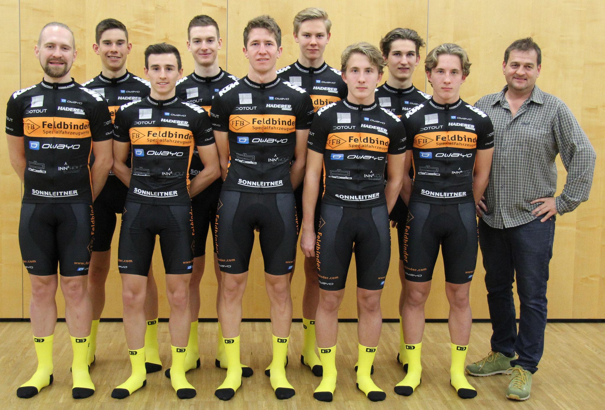 Unser Team mit Firmenchef Andreas Haderer