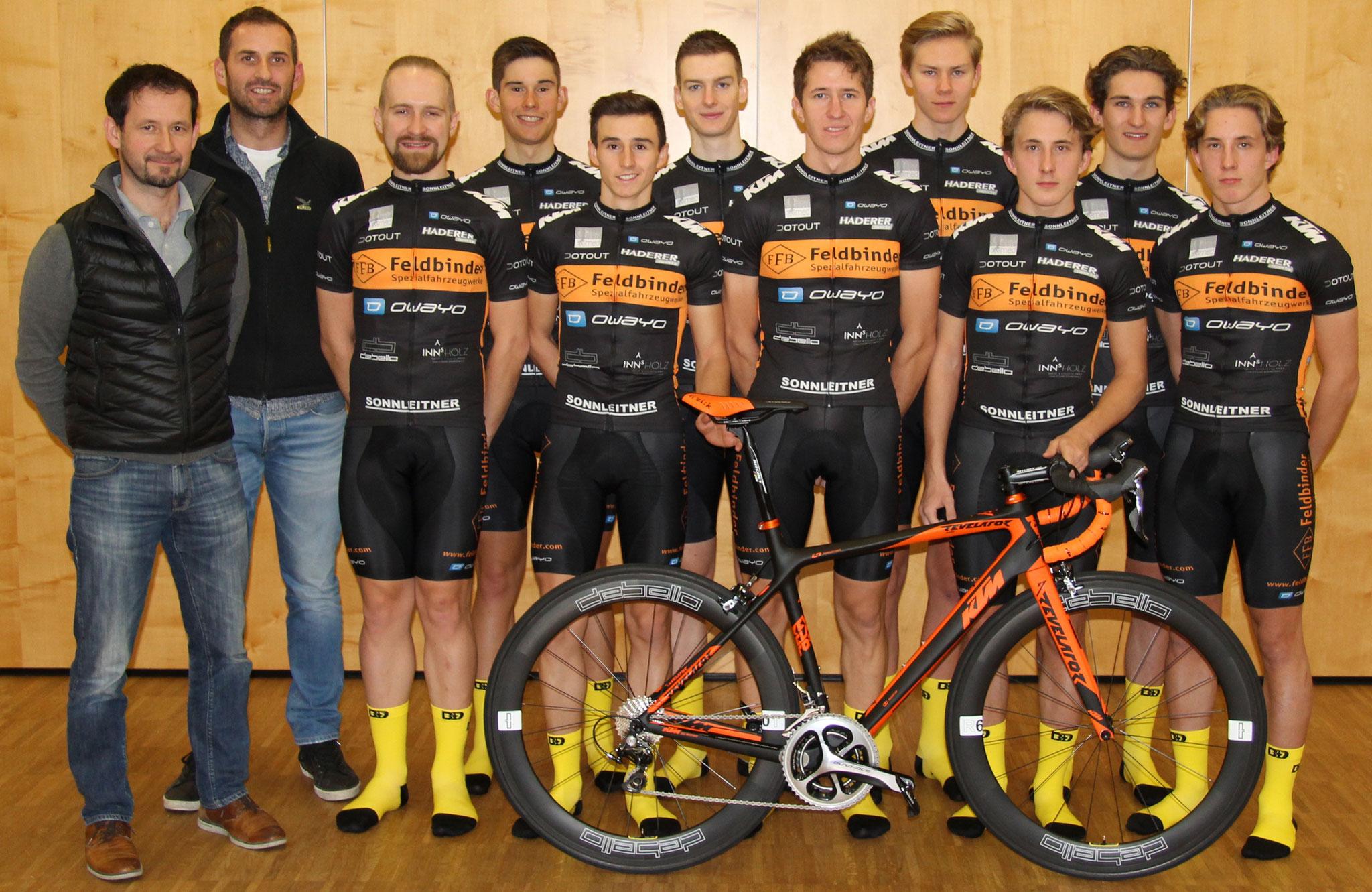 Thomas Rindberger und Clemens Mair von debello mit unserem Team