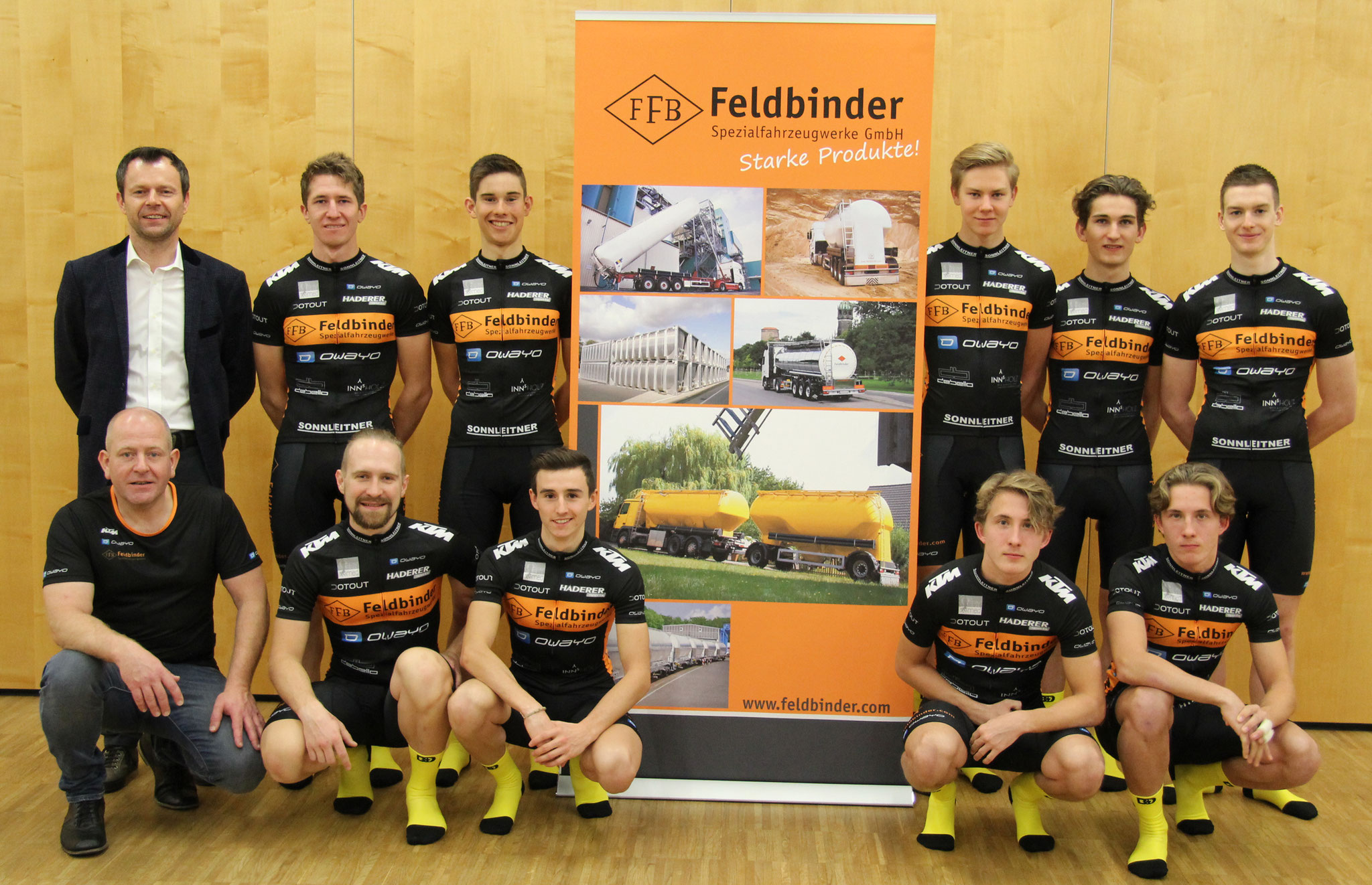 Gerald Hackl - FELDBINDER Österreich mit dem gesamten Team