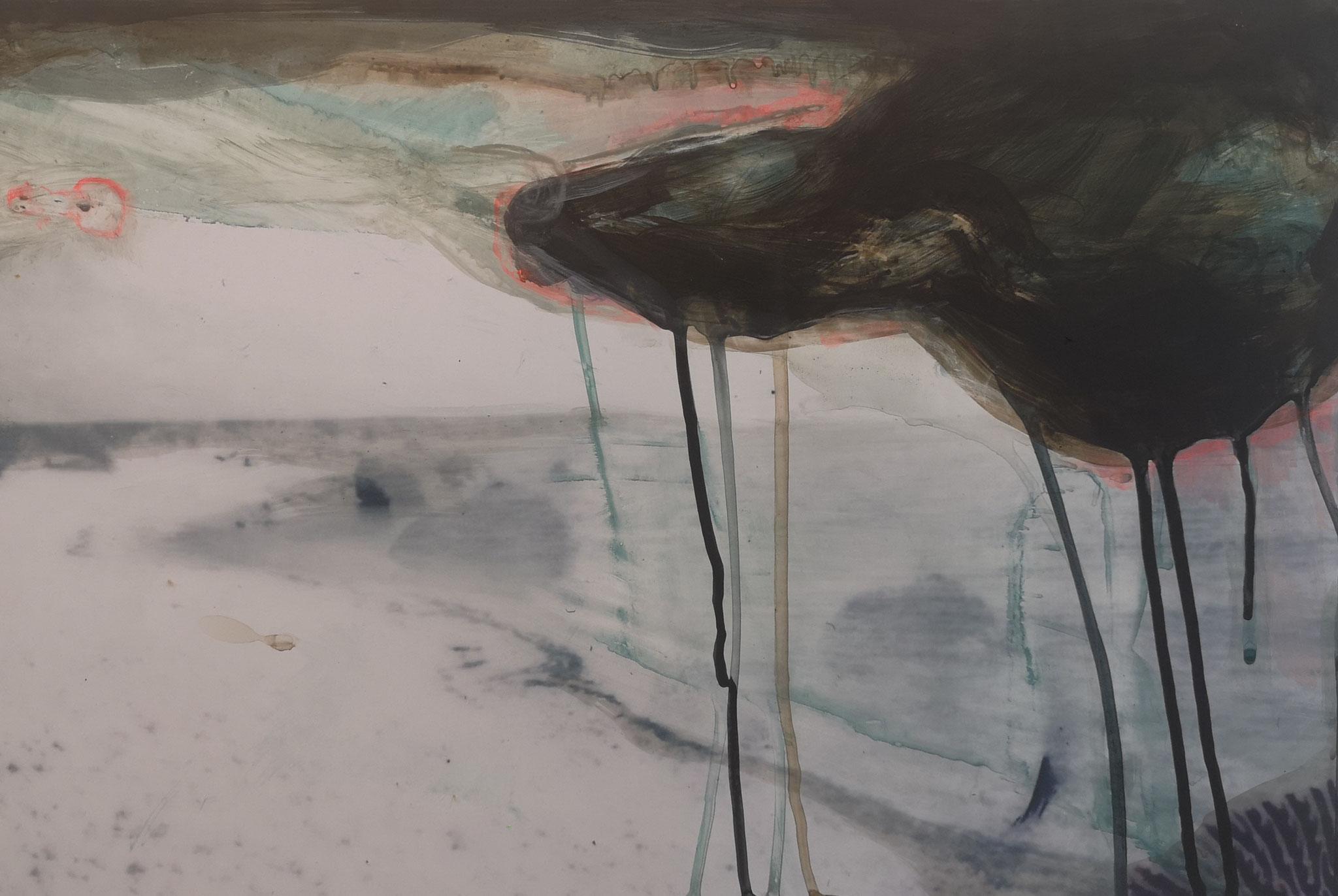 Genius Loci, Acryl auf Fotografie, Alu-Dibond, 35 x 40 cm, 2020
