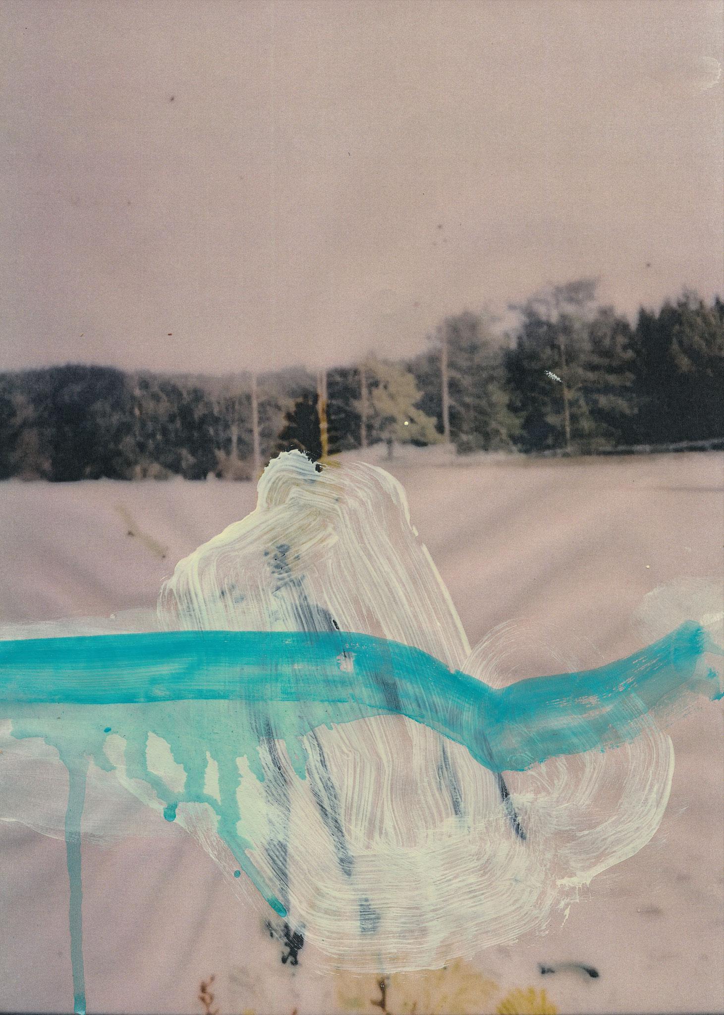 Genius Loci, Acryl auf Fotografie, Papier, ca. 30 x 20 cm, 2020