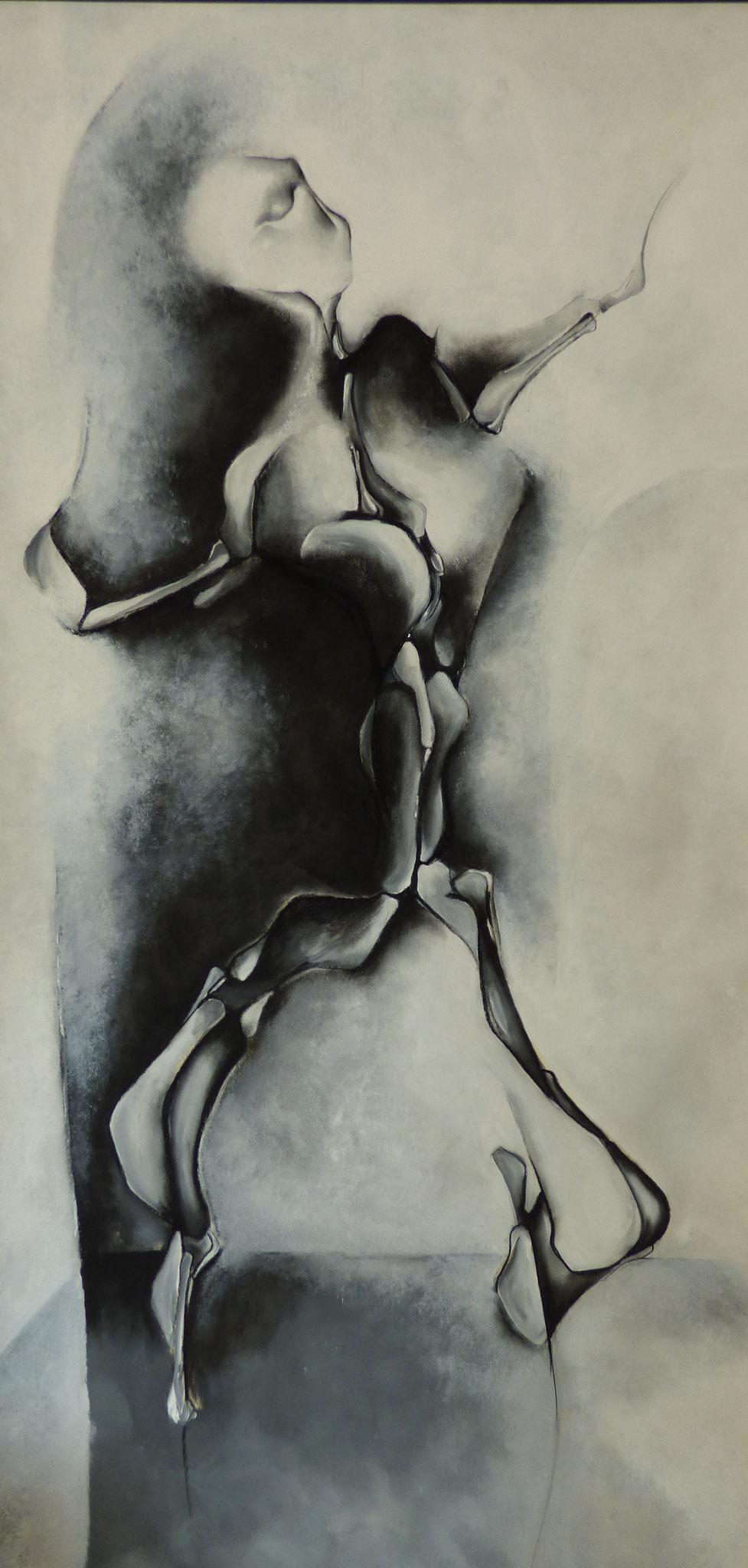 """""""Réalité immobile VIII"""" - Peinture, pastel sec"""