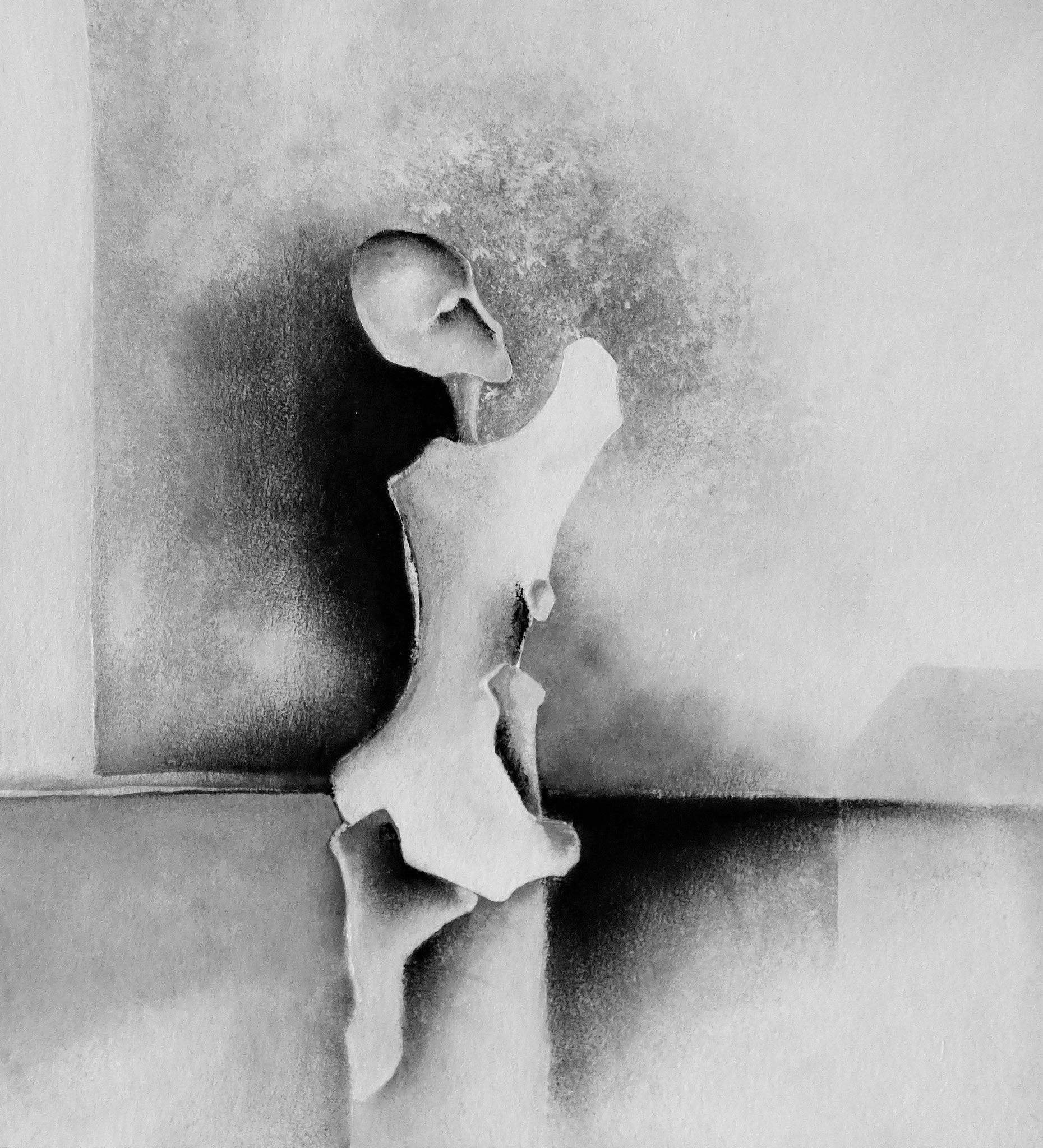 """""""Réalité immobile II"""" - Peinture, pastel sec"""